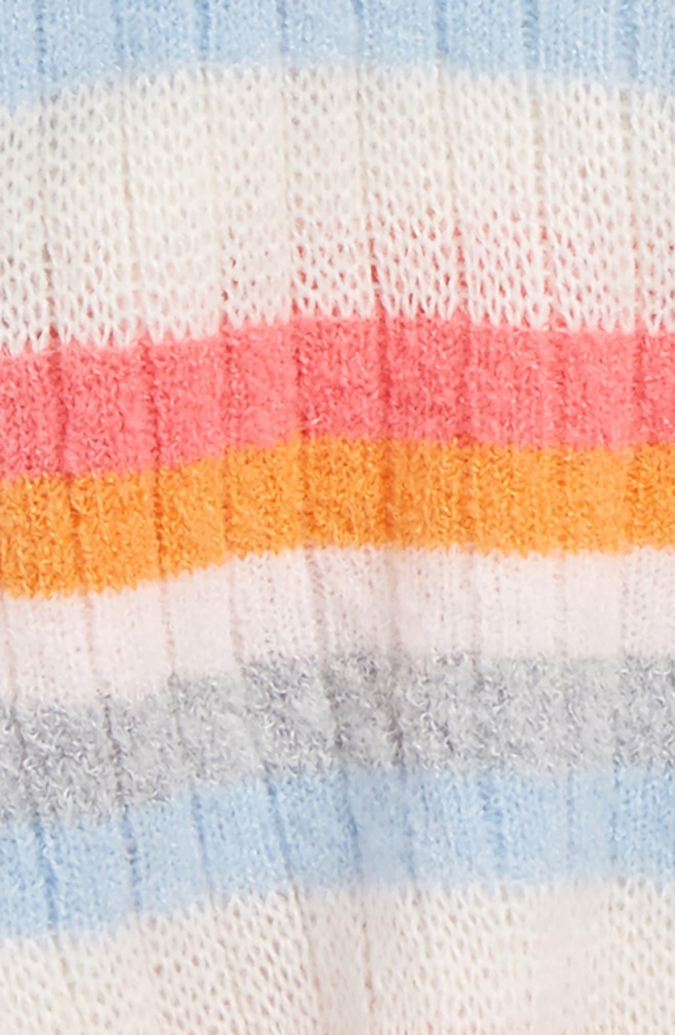 Stripe Cardigan,                             Alternate thumbnail 2, color,                             Ivory Egret Multi Stripe