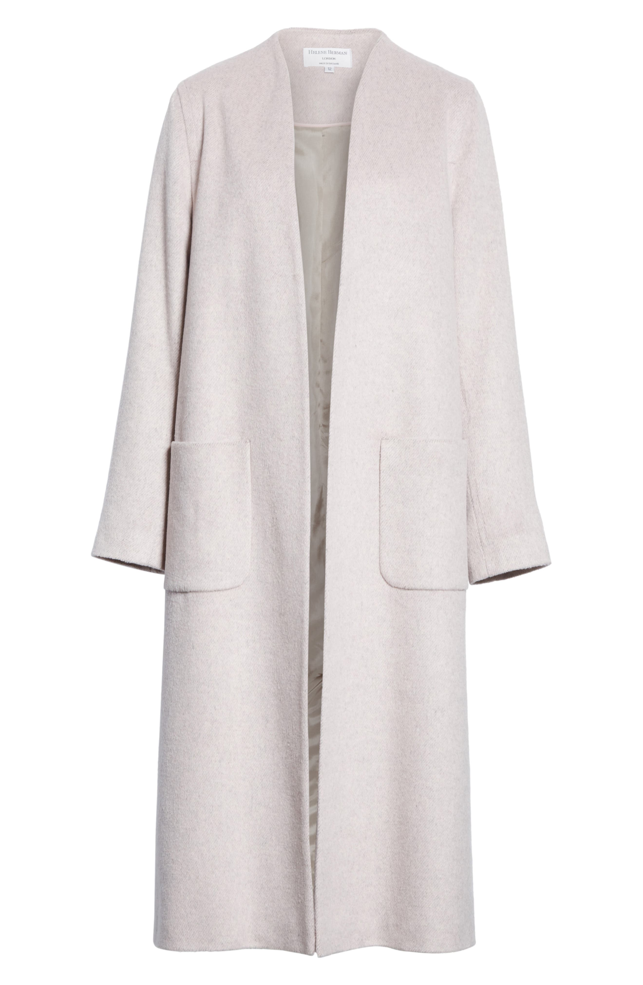 Edge to Edge Coat,                             Alternate thumbnail 6, color,                             Pale Pink