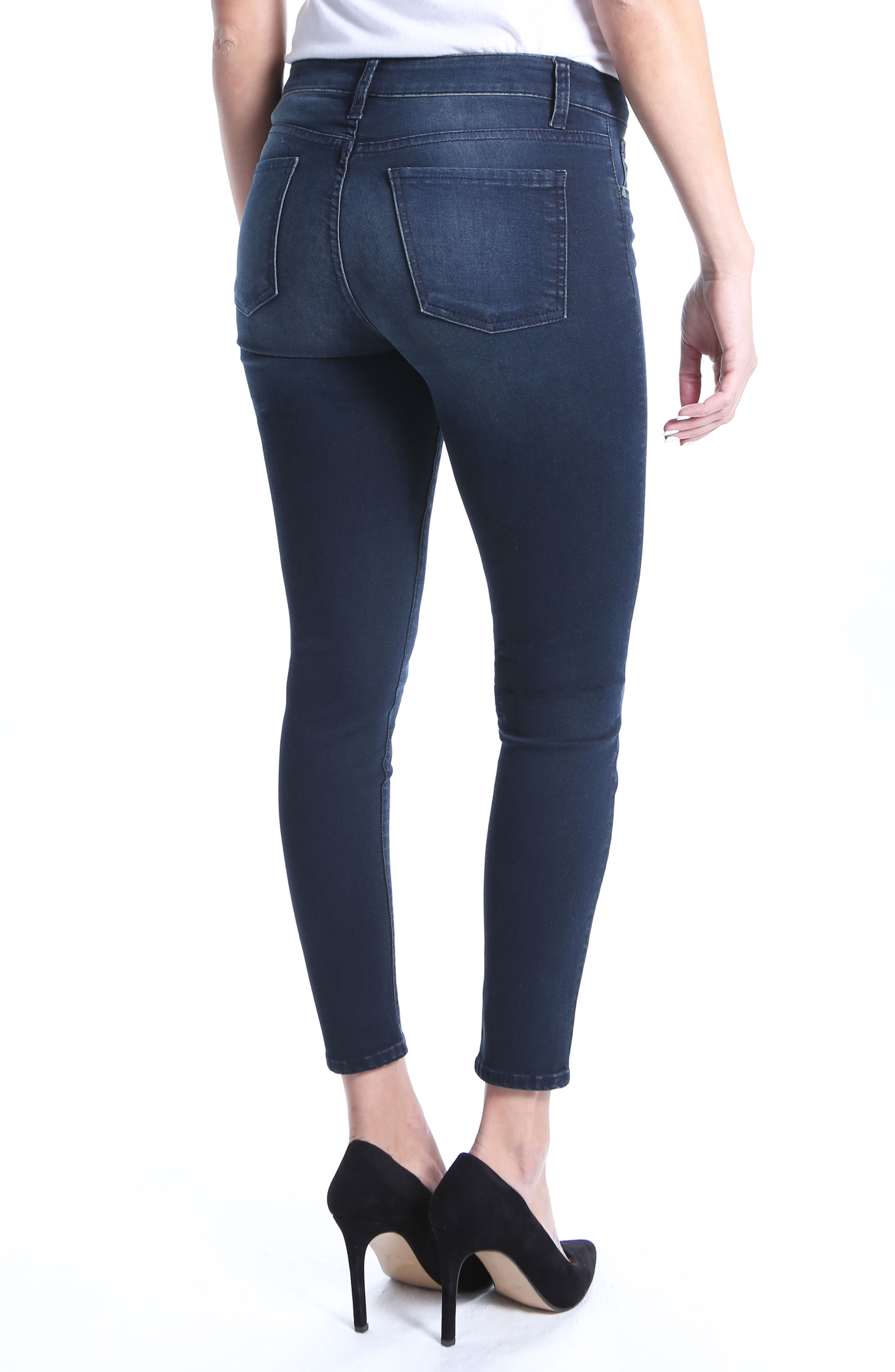 Donna High Rise Ankle Skinny Jeans,                             Alternate thumbnail 2, color,                             Recognizable