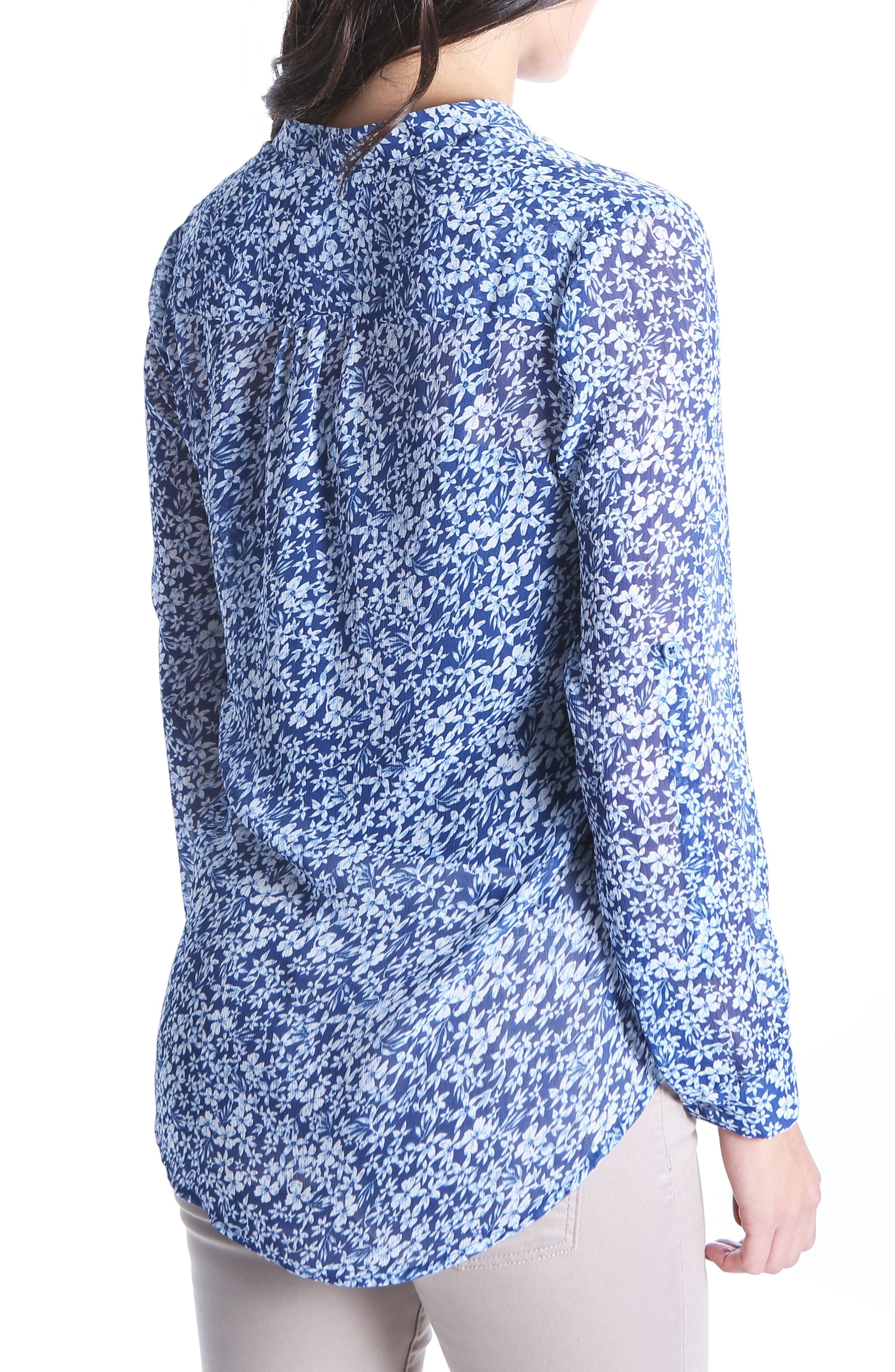 KUT from the the Kloth Jasmine Floral Blouse,                             Alternate thumbnail 2, color,                             Navy