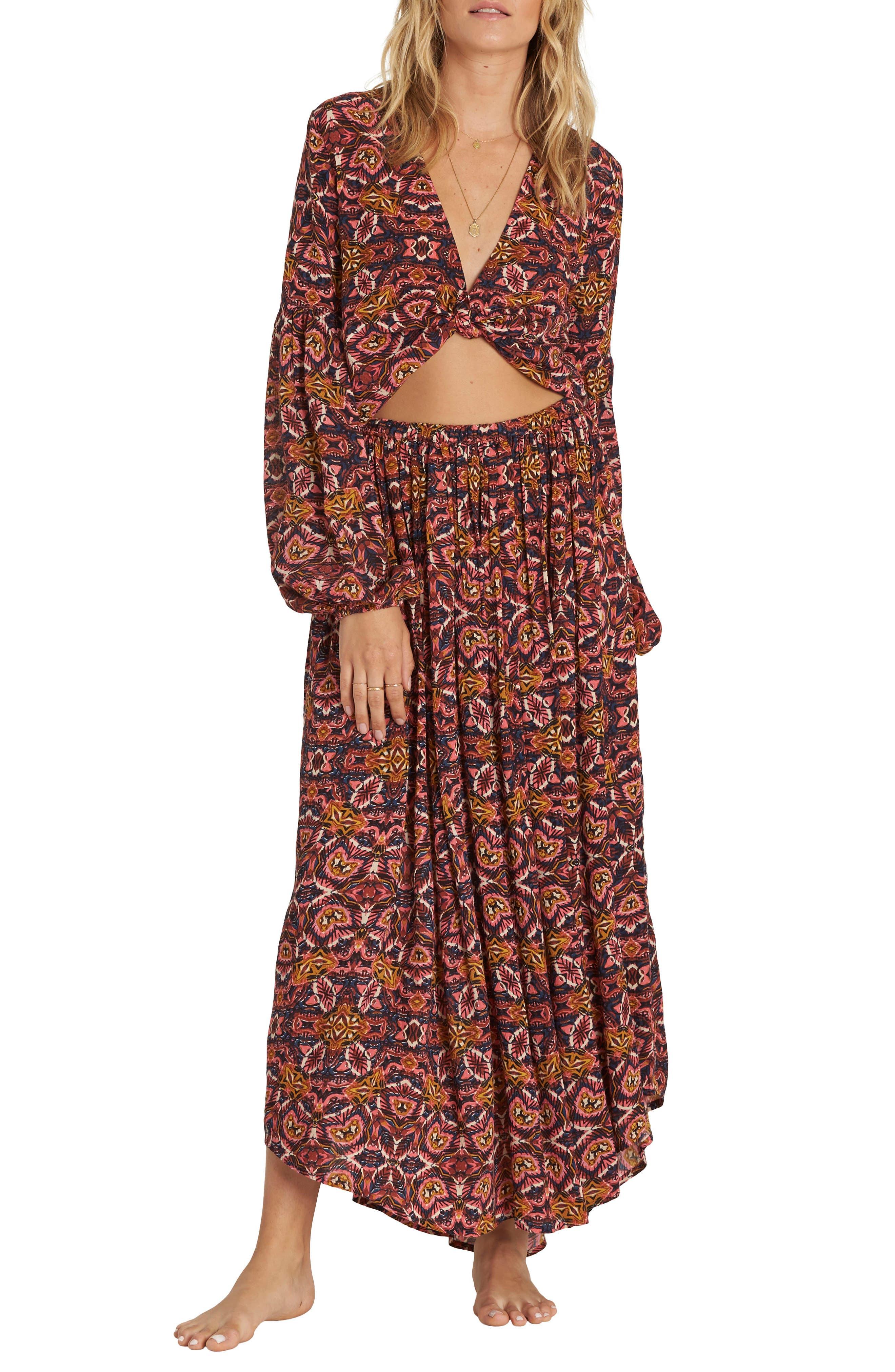 Alternate Image 2  - Billabong Sun Safari Asymmetrical Maxi Skirt