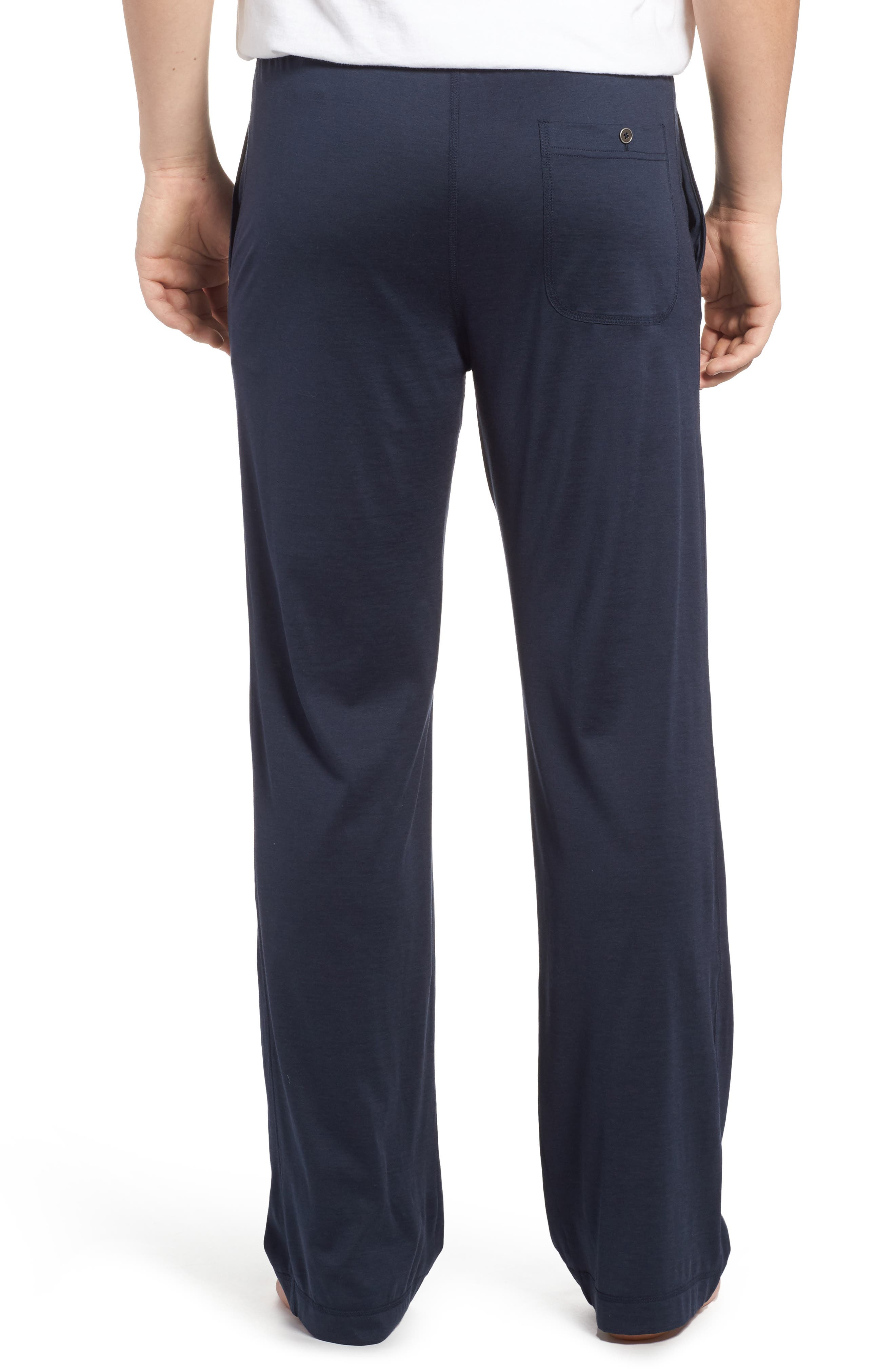 Silk & Cotton Lounge Pants,                             Alternate thumbnail 2, color,                             Midnight