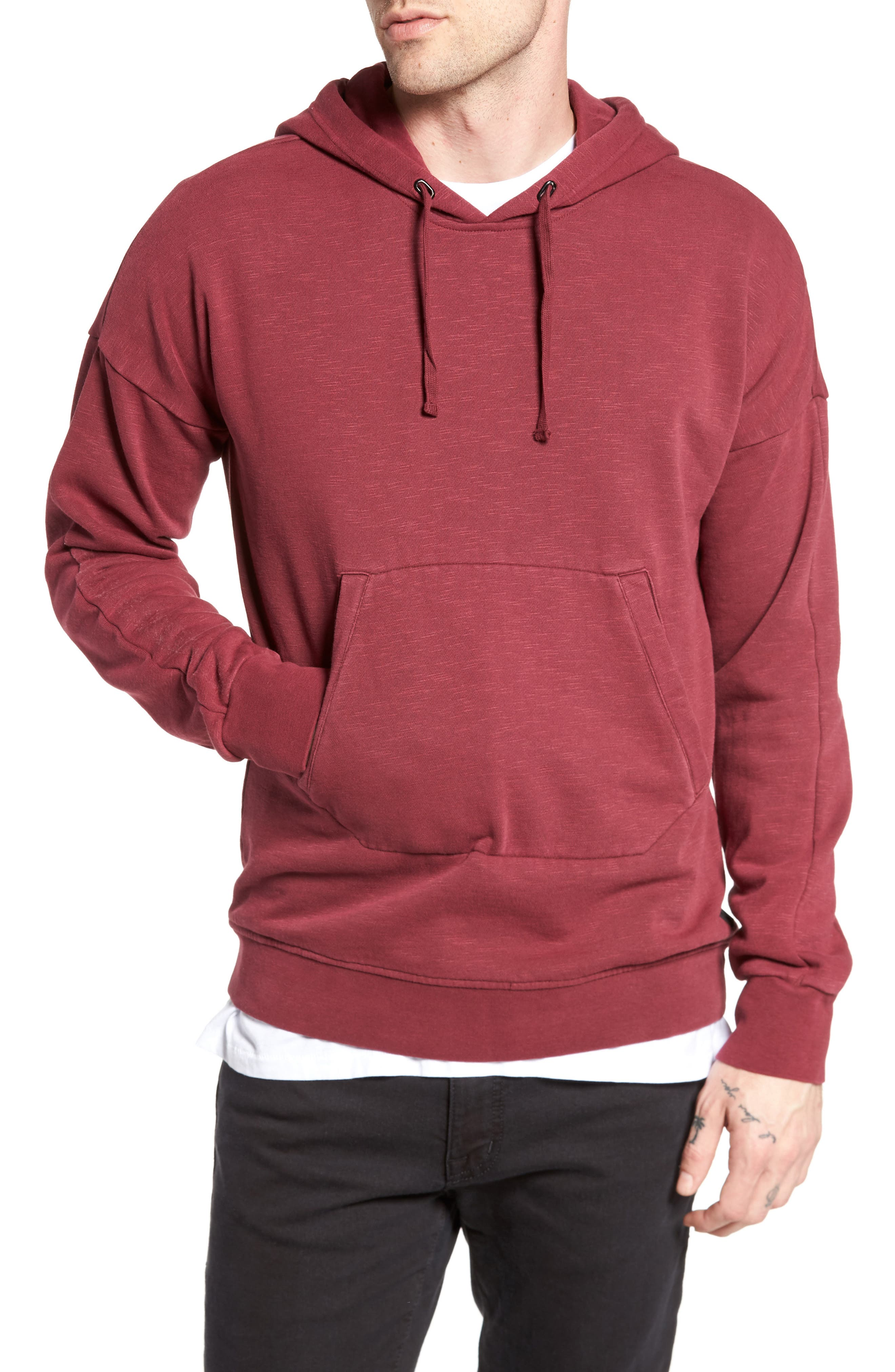 Turf Hooded Sweatshirt,                         Main,                         color, Rosewood
