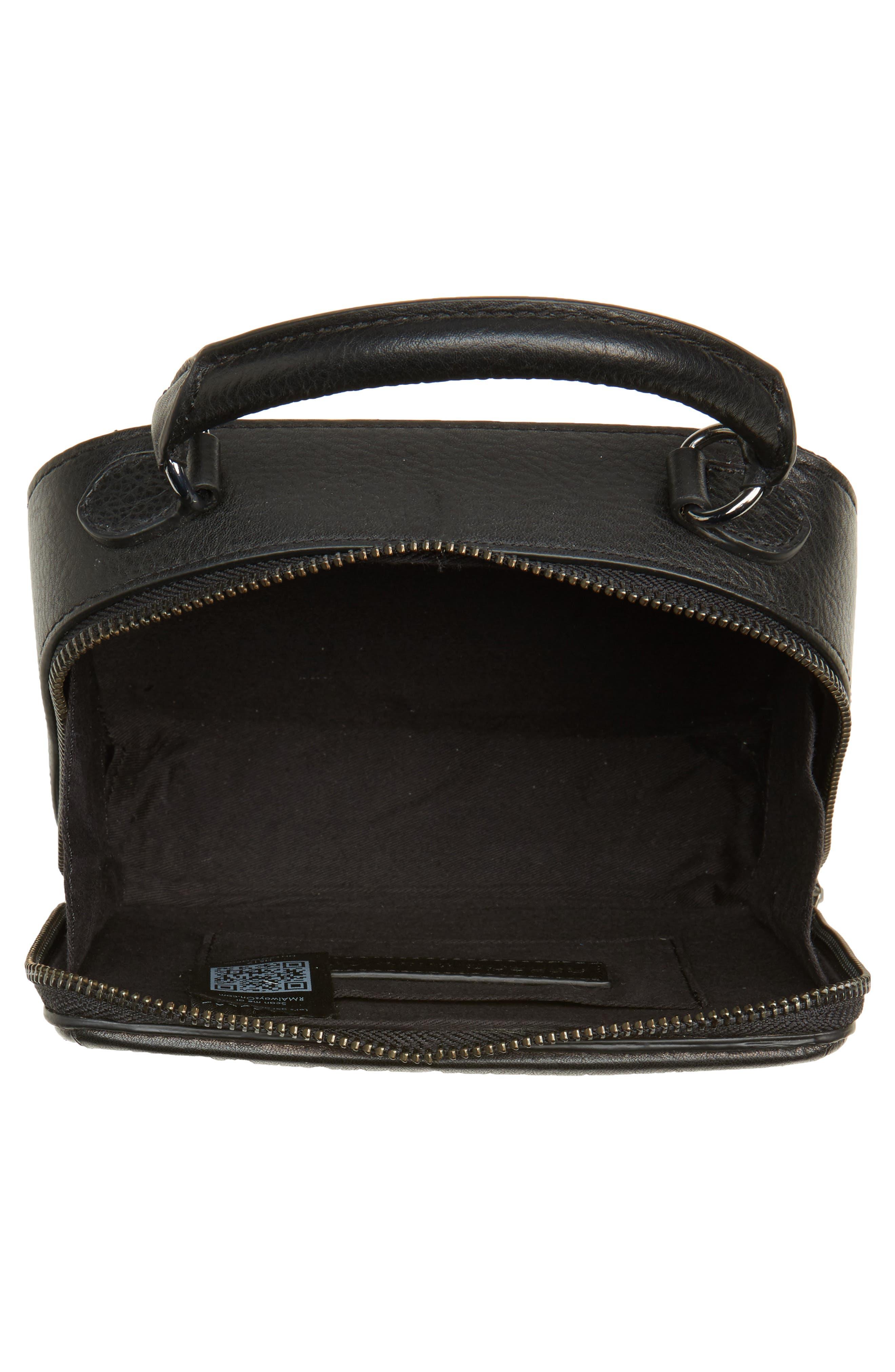 Wonder Box Embellished Crossbody Bag,                             Alternate thumbnail 4, color,                             Black Metallic Multi