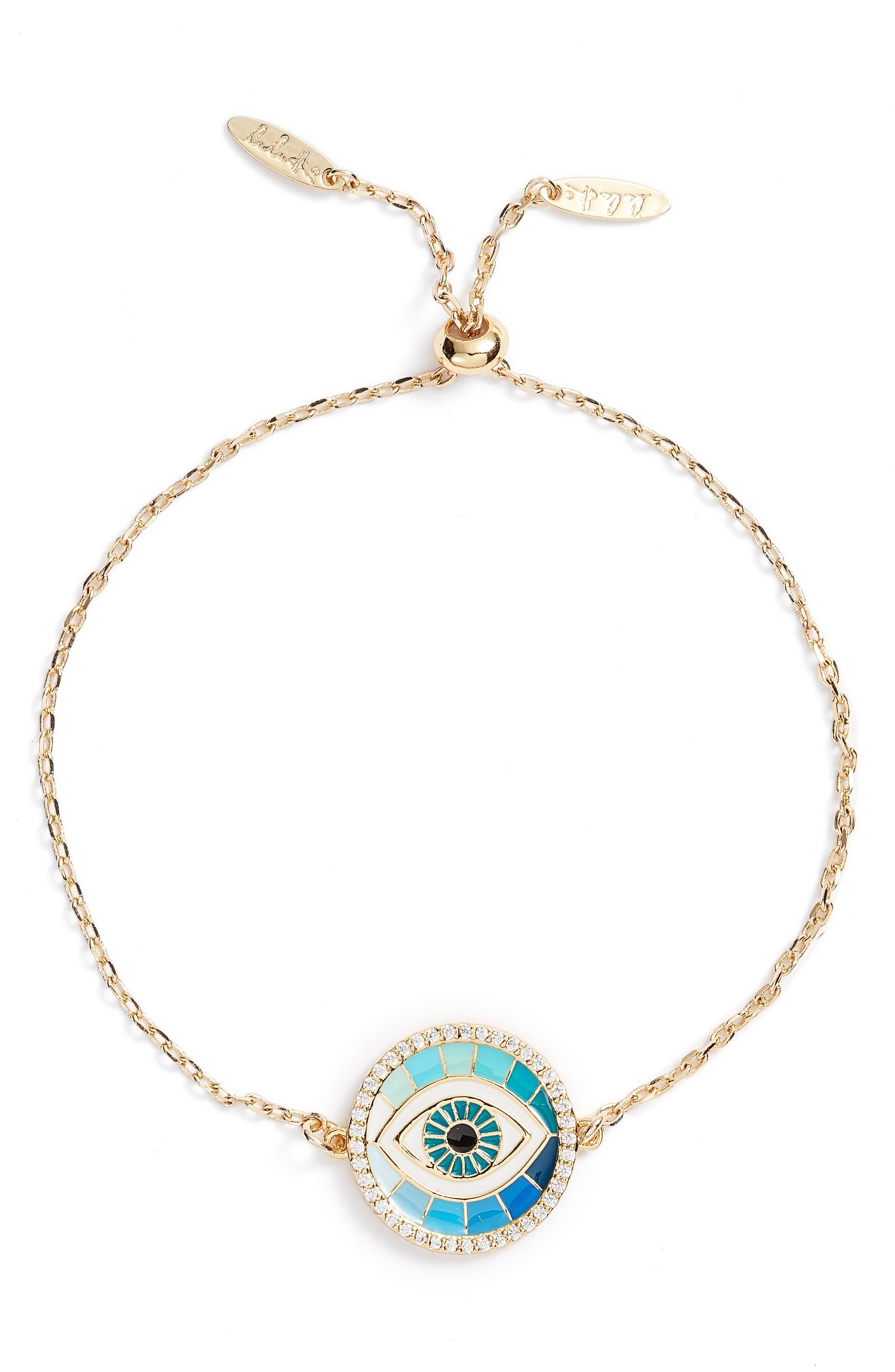 Protect Pendant Bracelet,                         Main,                         color, Gold