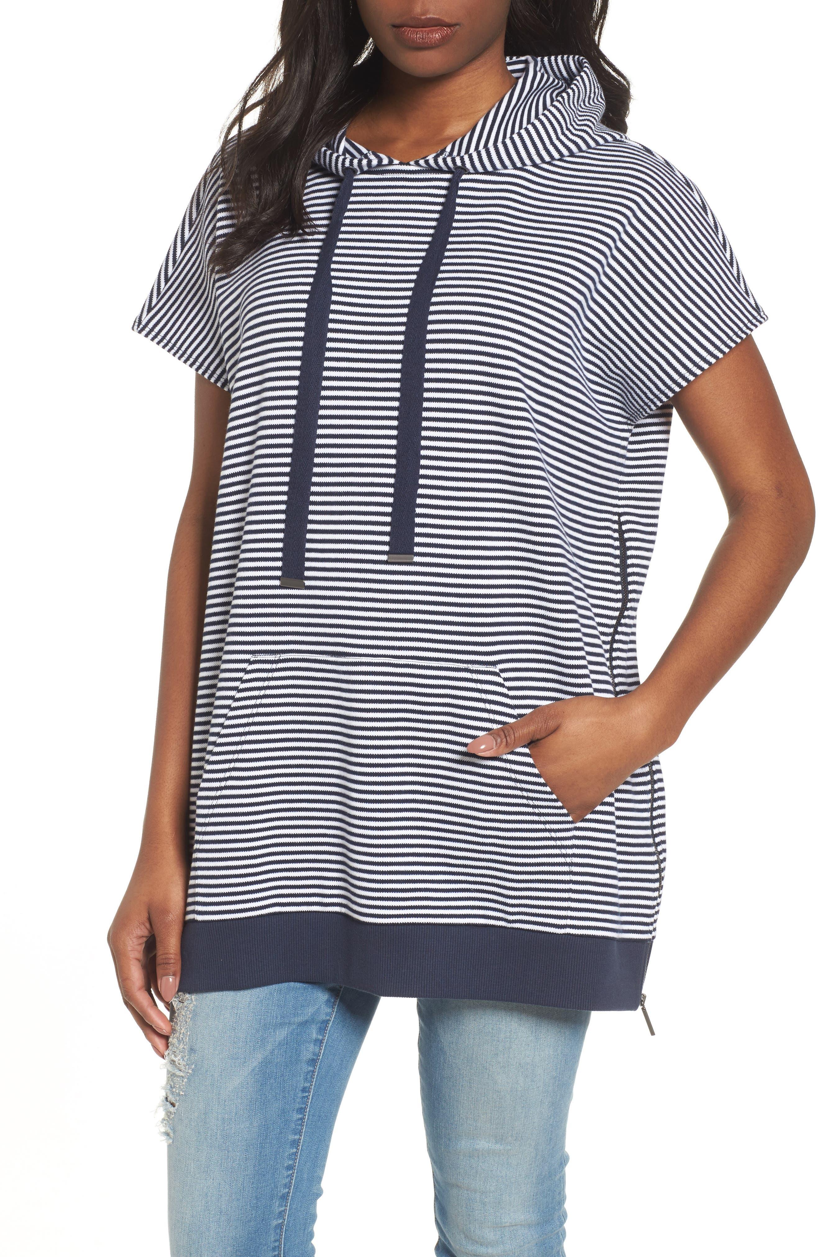Stripe Hoodie,                         Main,                         color, Rep Stripe-Indigo