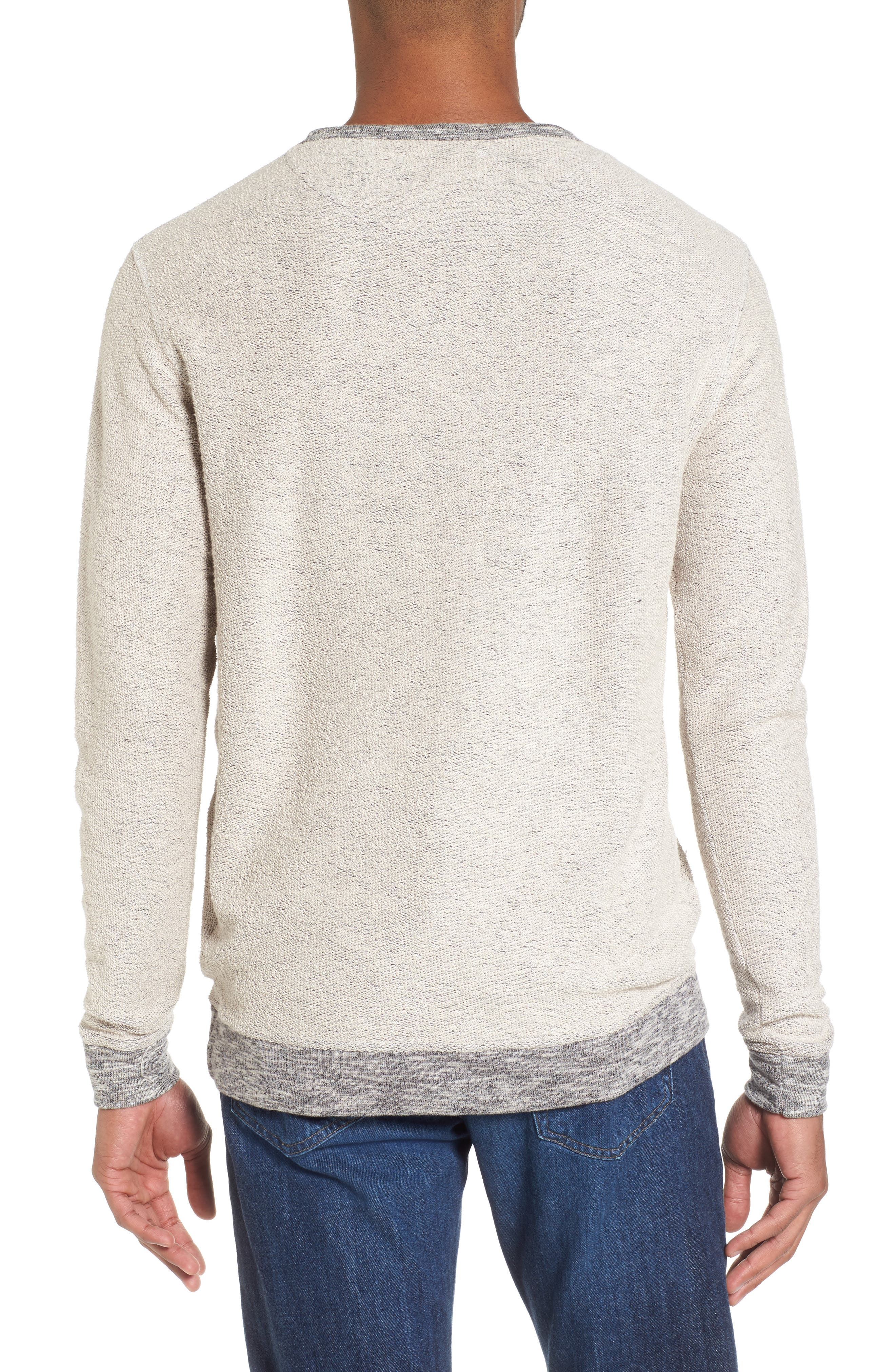 Reverse French Terry Sweatshirt,                             Alternate thumbnail 2, color,                             Grey