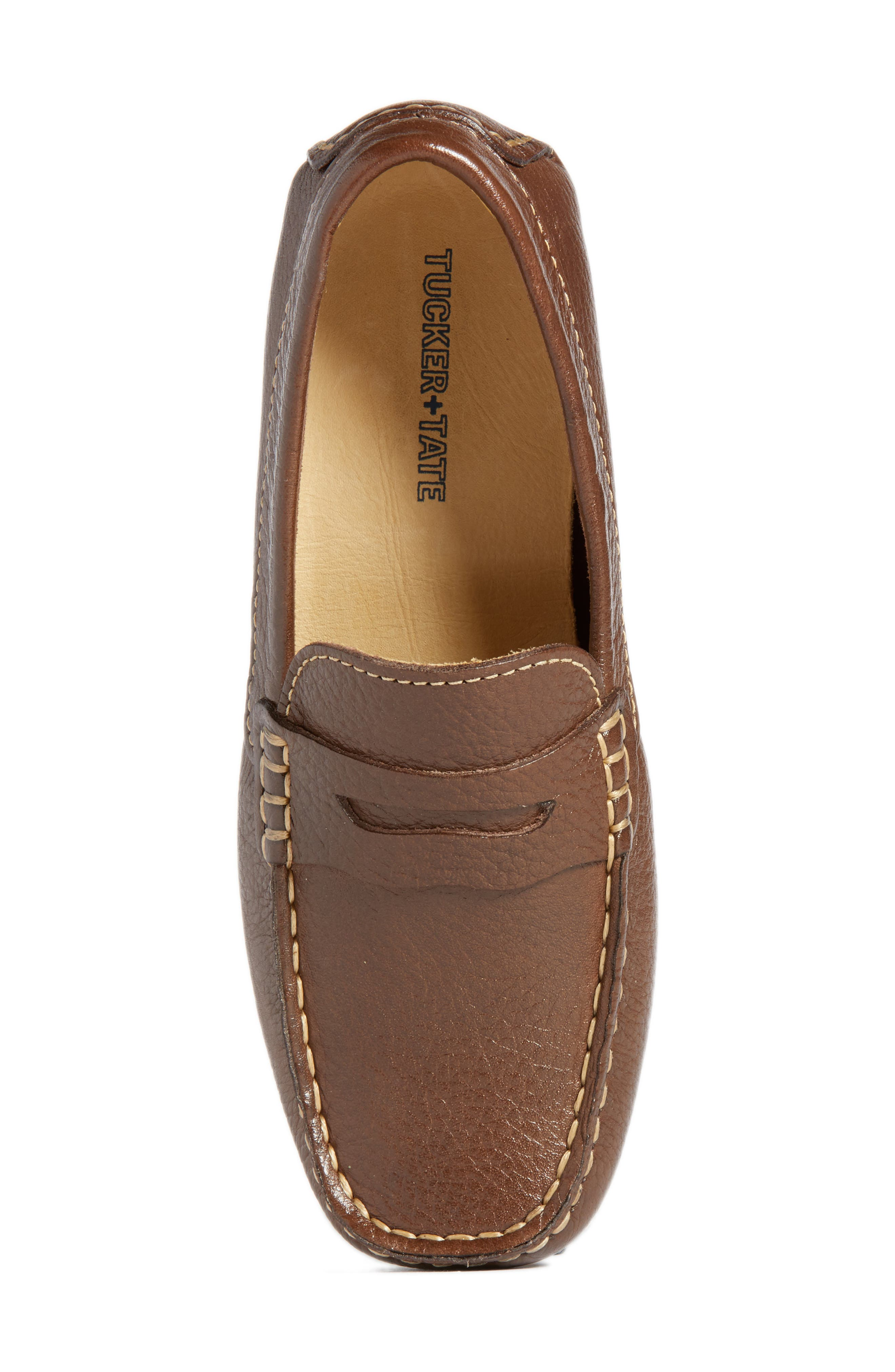 Matteo Moccasin,                             Alternate thumbnail 5, color,                             Brown Leather