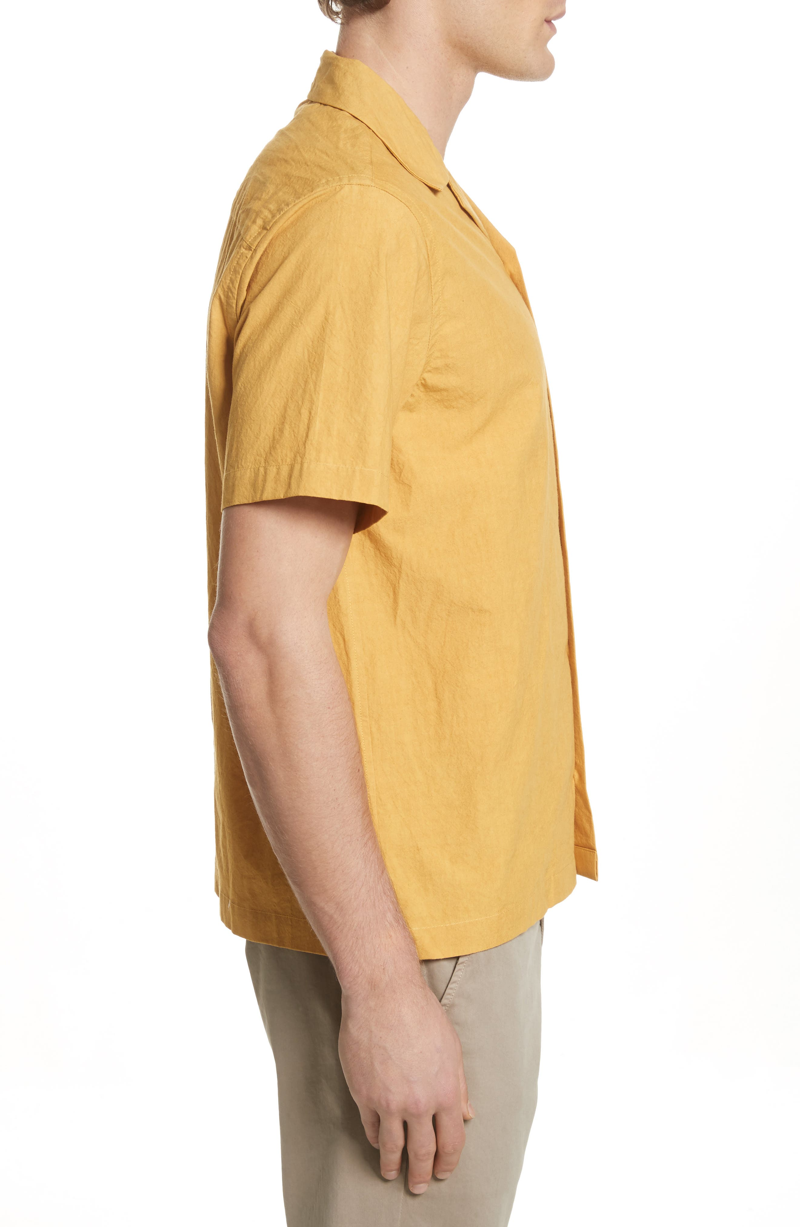Canty Woven Camp Shirt,                             Alternate thumbnail 4, color,                             Dusty Amber