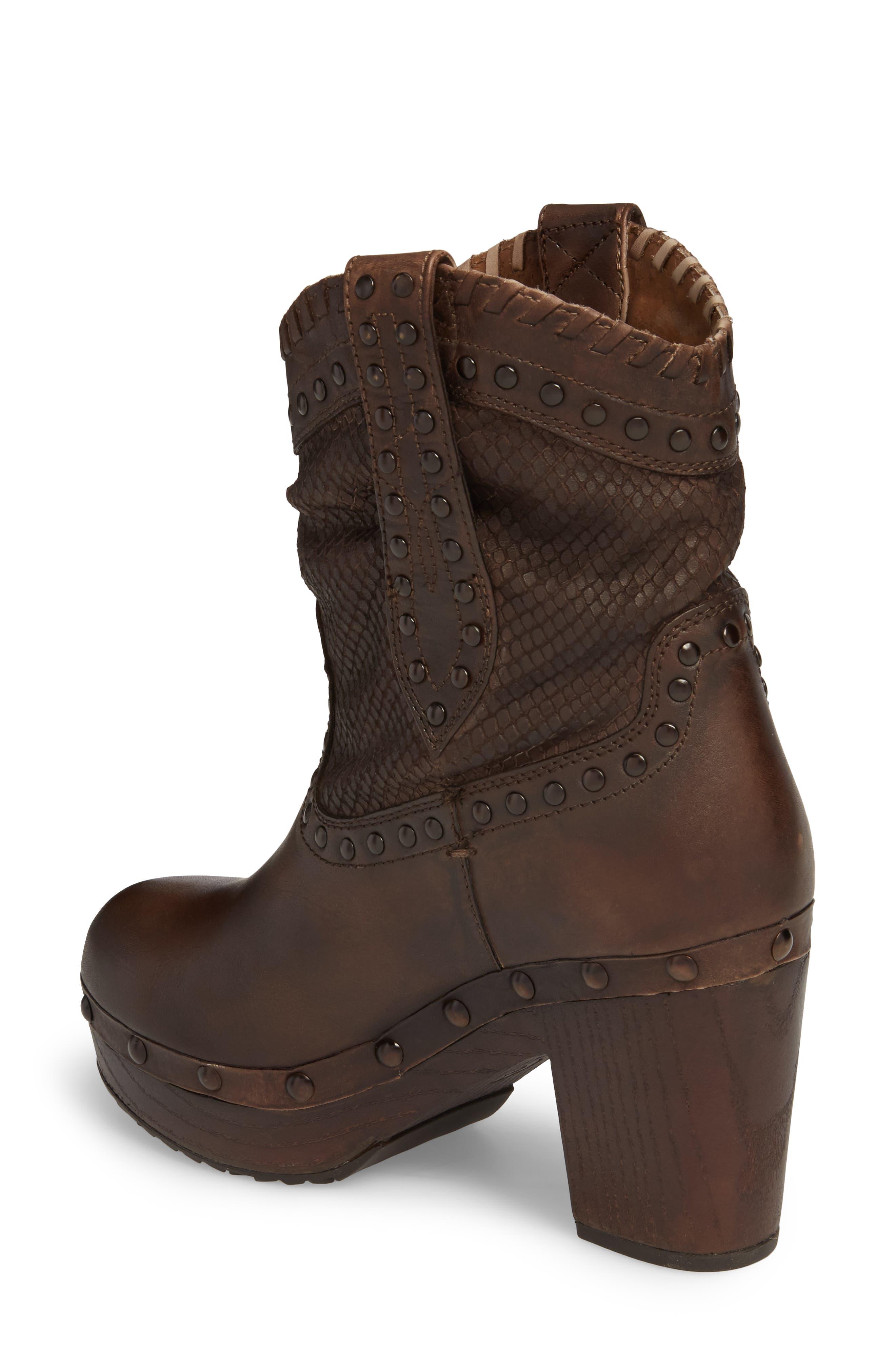 Memphis Platform Boot,                             Alternate thumbnail 2, color,                             Distressed Brown Leather