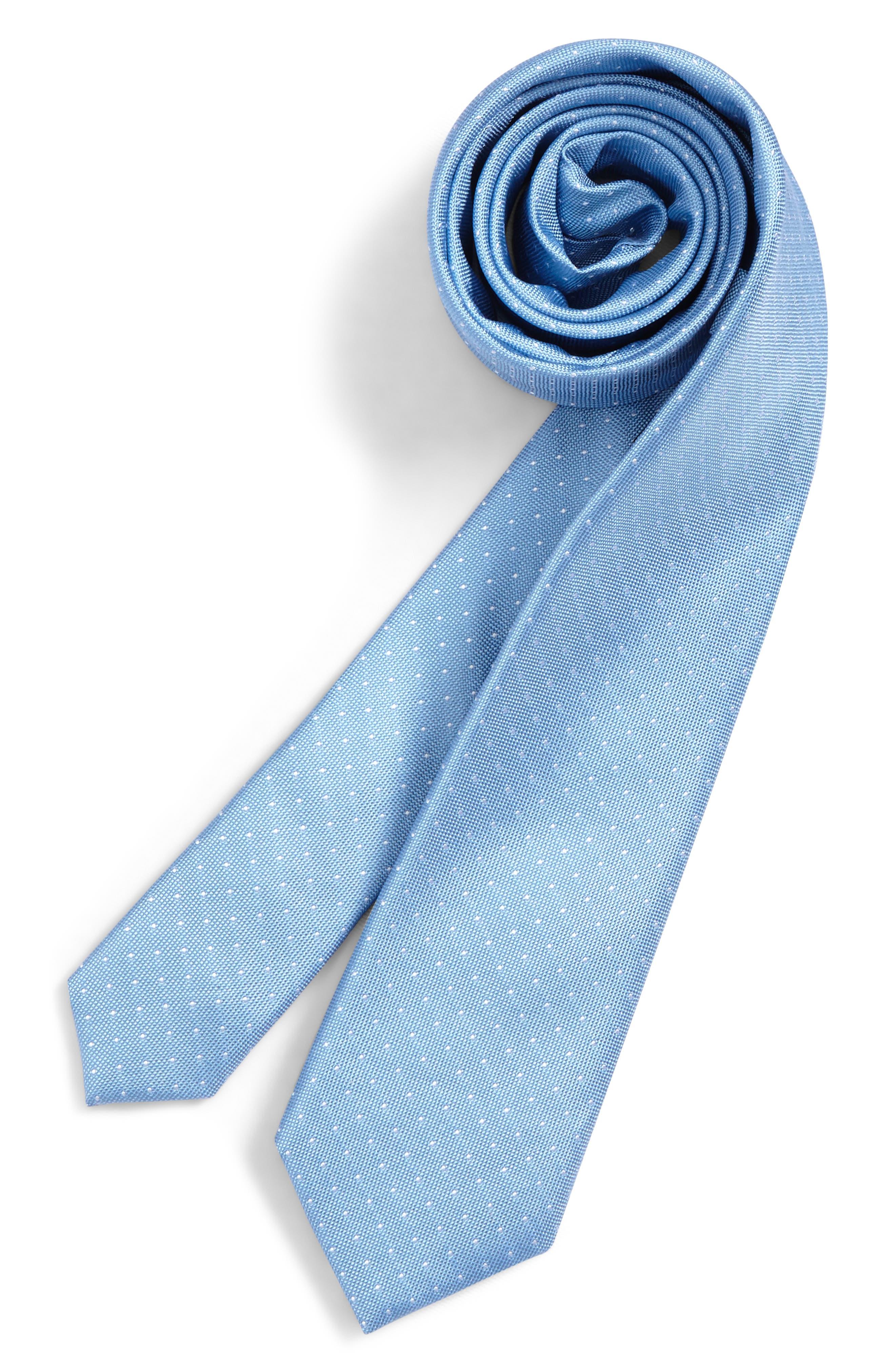 Main Image - Nordstrom Dot Silk Tie (Big Boys)