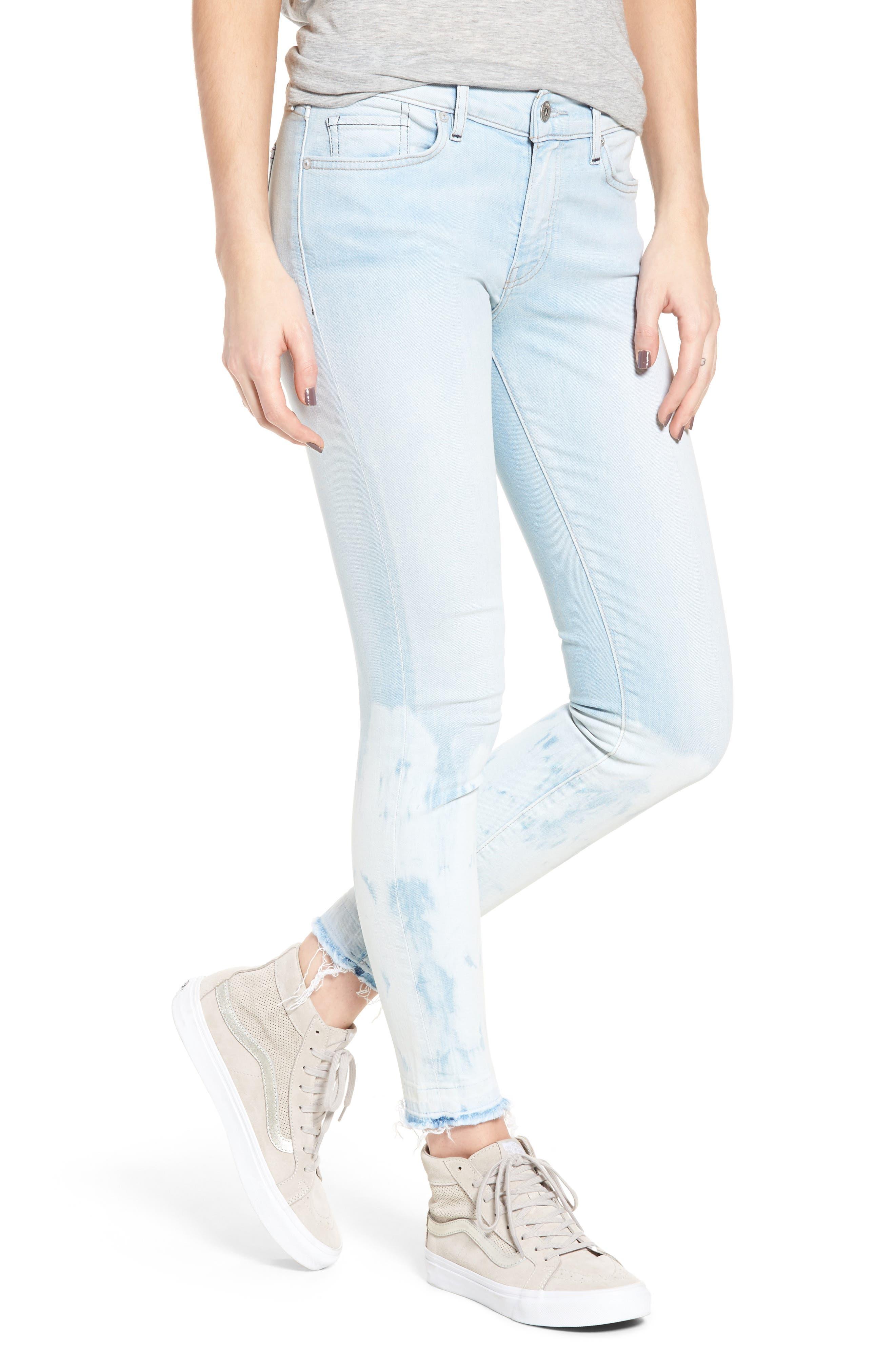 Empire Ankle Skinny Jeans,                         Main,                         color, Beach Break