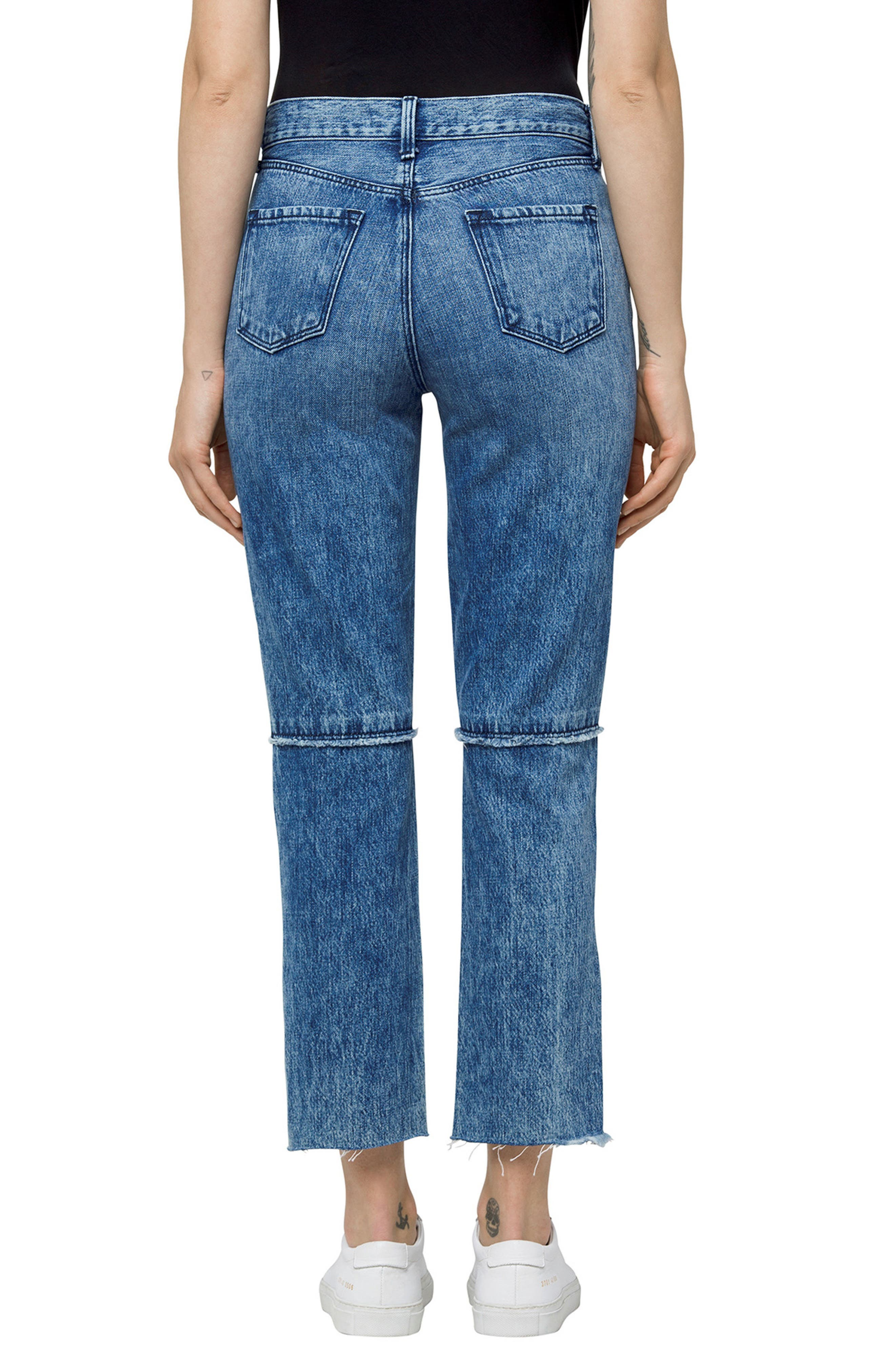 Ruby High Waist Crop Jeans,                             Alternate thumbnail 2, color,                             Satellite