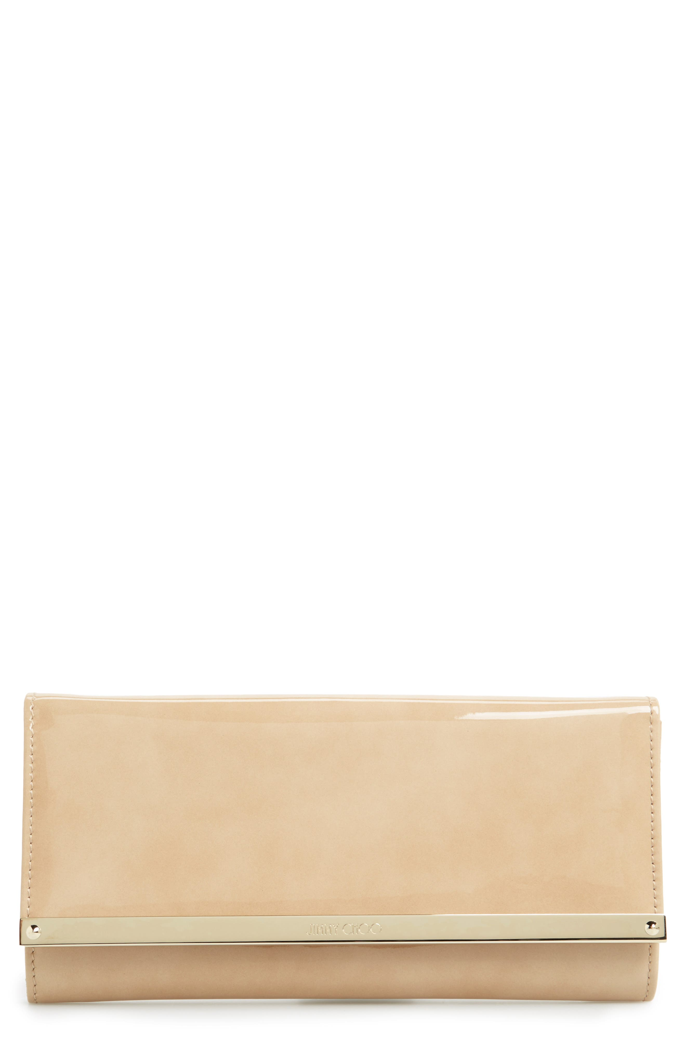 Milla Leather Wallet on a Chain,                             Main thumbnail 1, color,                             Nude