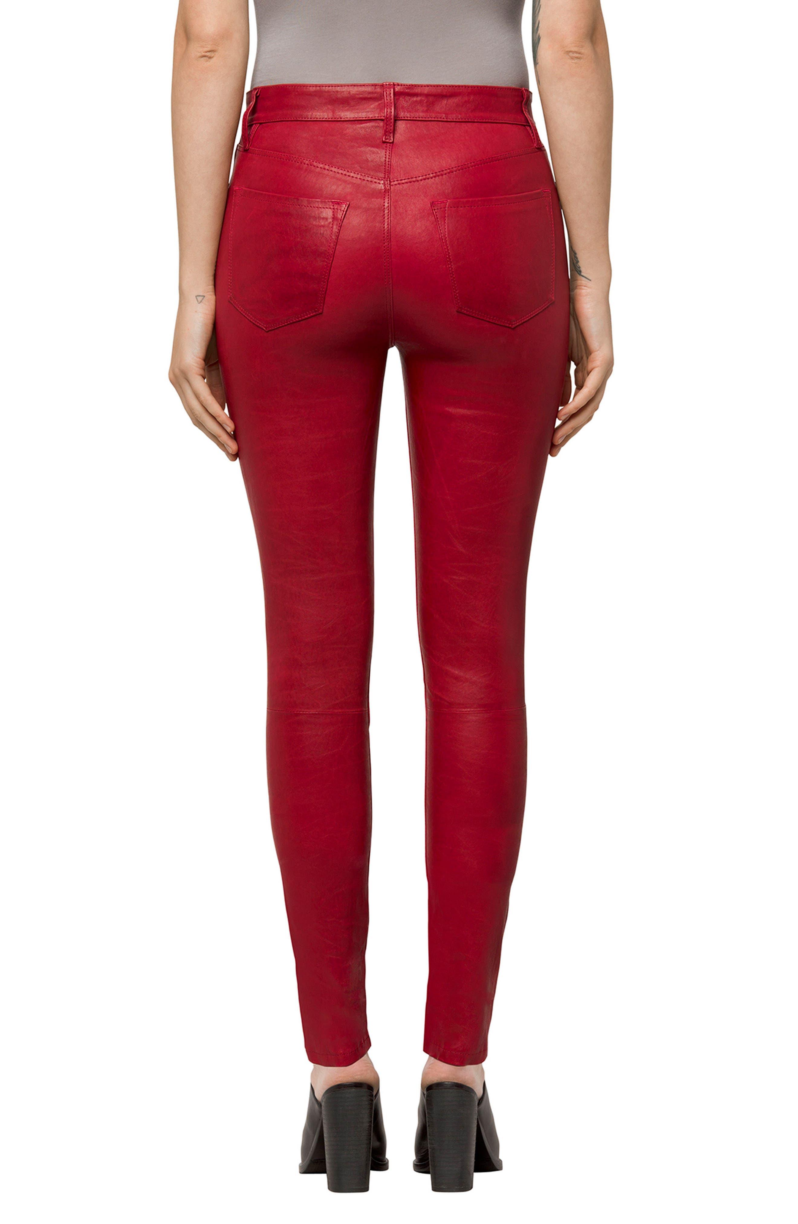 Alternate Image 2  - J Brand 'Maria' Lambskin Leather Leggings