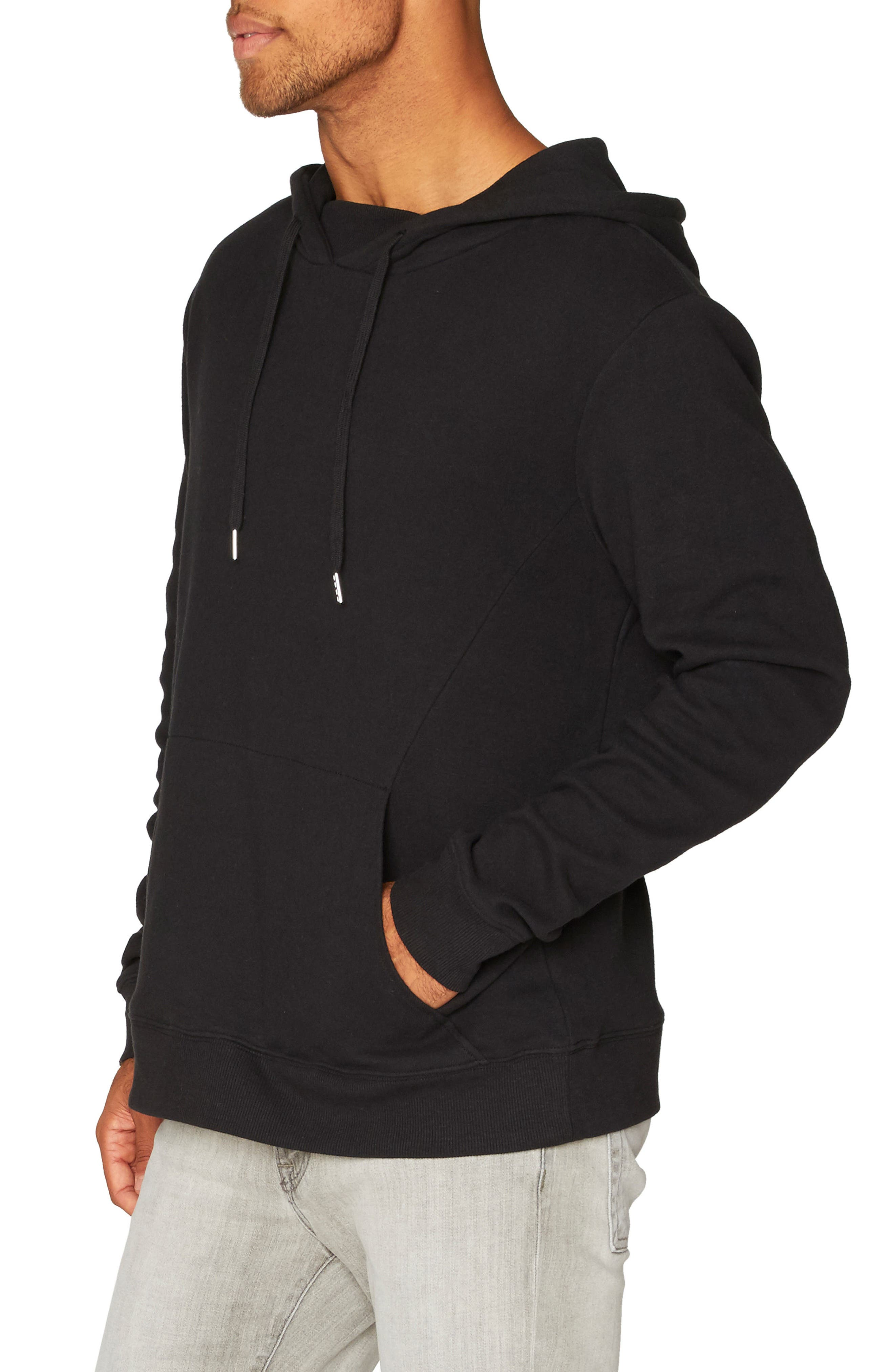 Vance Fleece Hoodie,                             Alternate thumbnail 3, color,                             Black