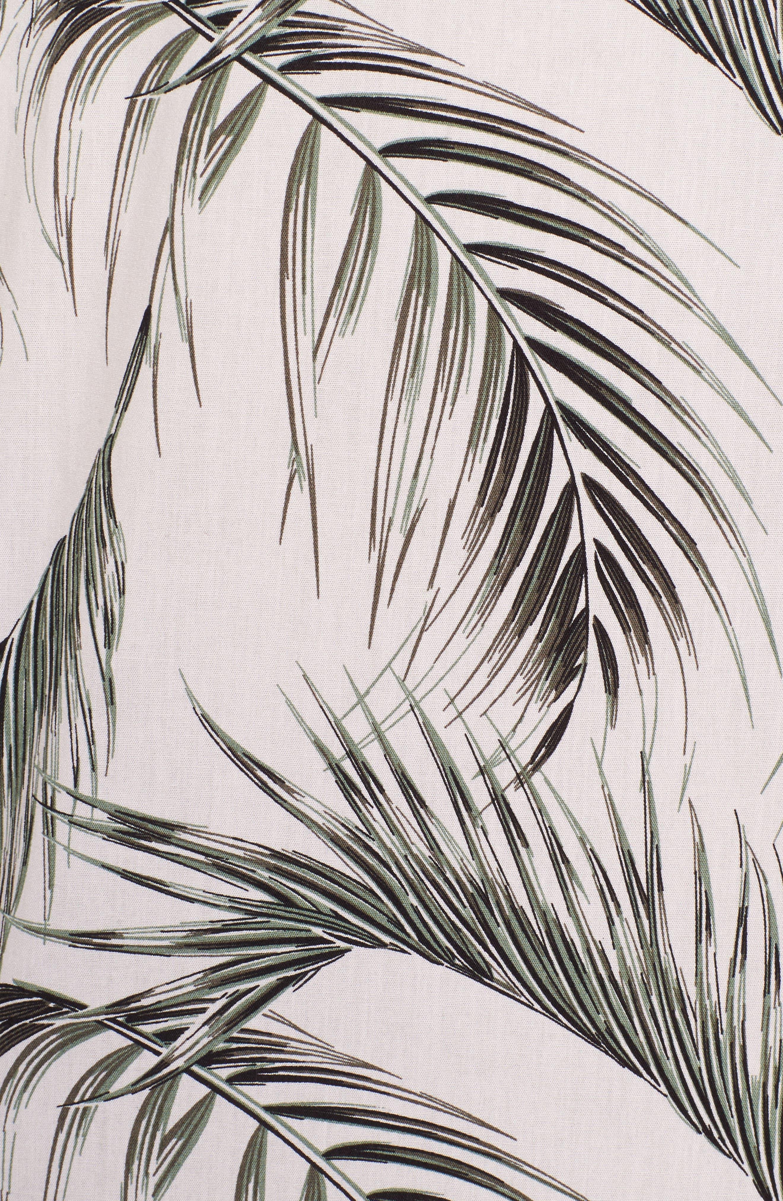 Slim Fit Short Sleeve Print Camp Shirt,                             Alternate thumbnail 5, color,                             Pink Pretty Palms