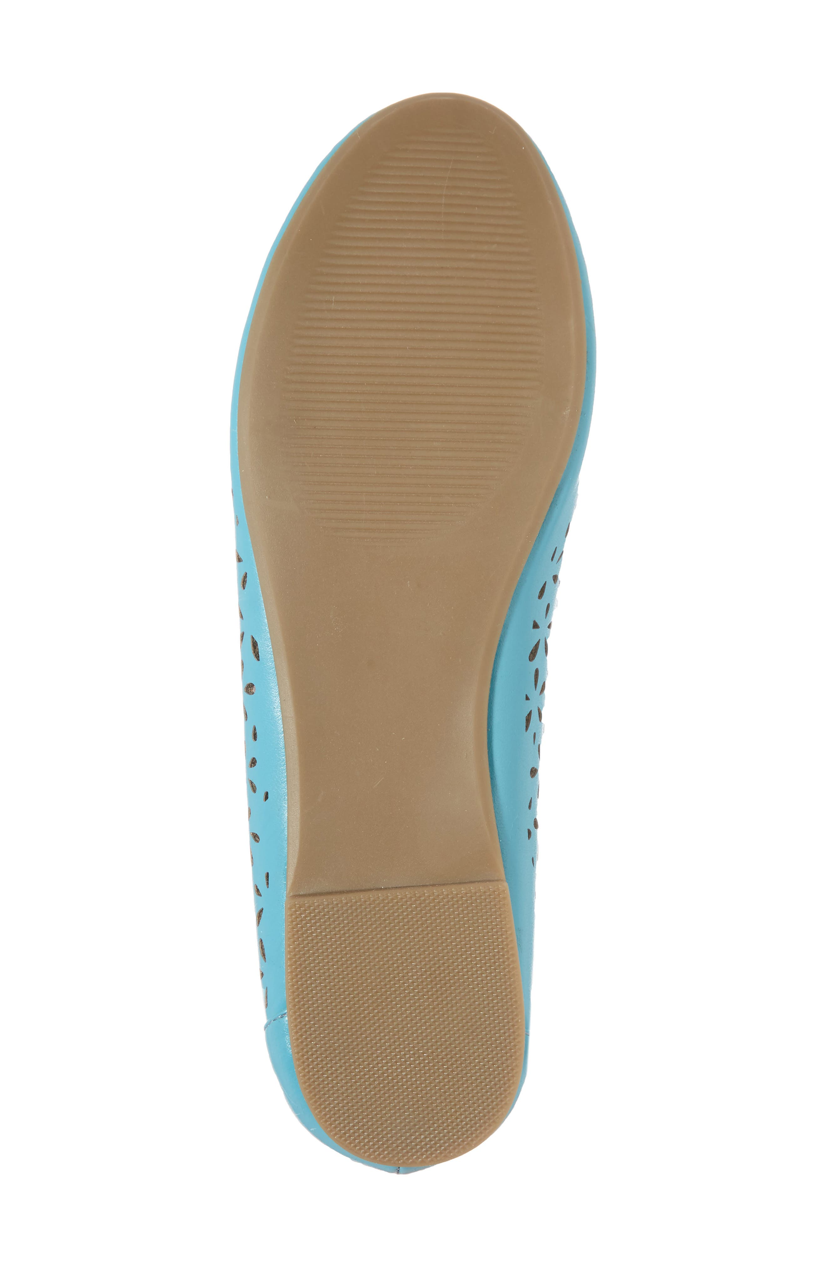 Annora Perforated Flat,                             Alternate thumbnail 6, color,                             Teal Fabric