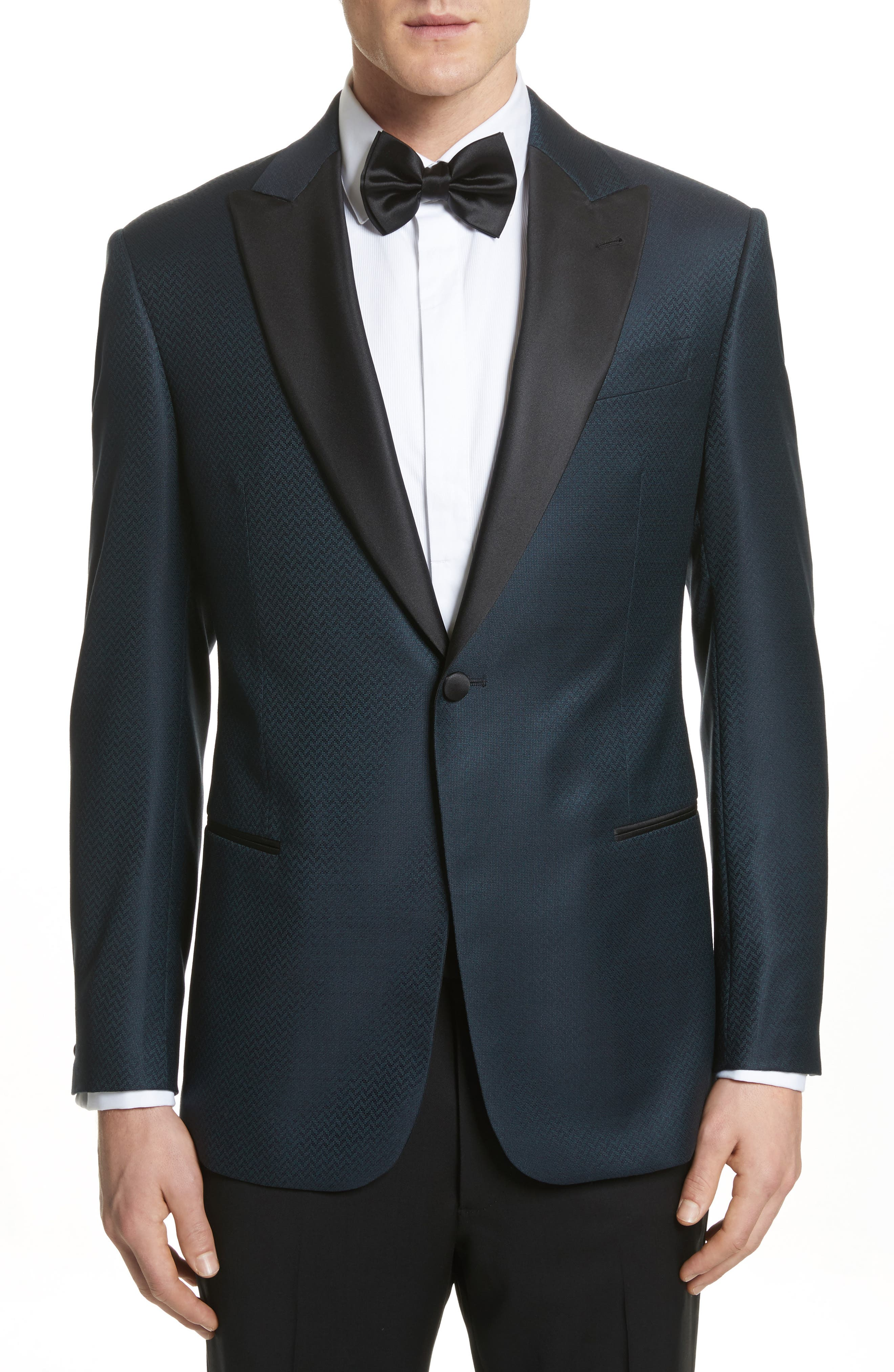 G-Line Trim Fit Wool Dinner Jacket,                         Main,                         color, Blue