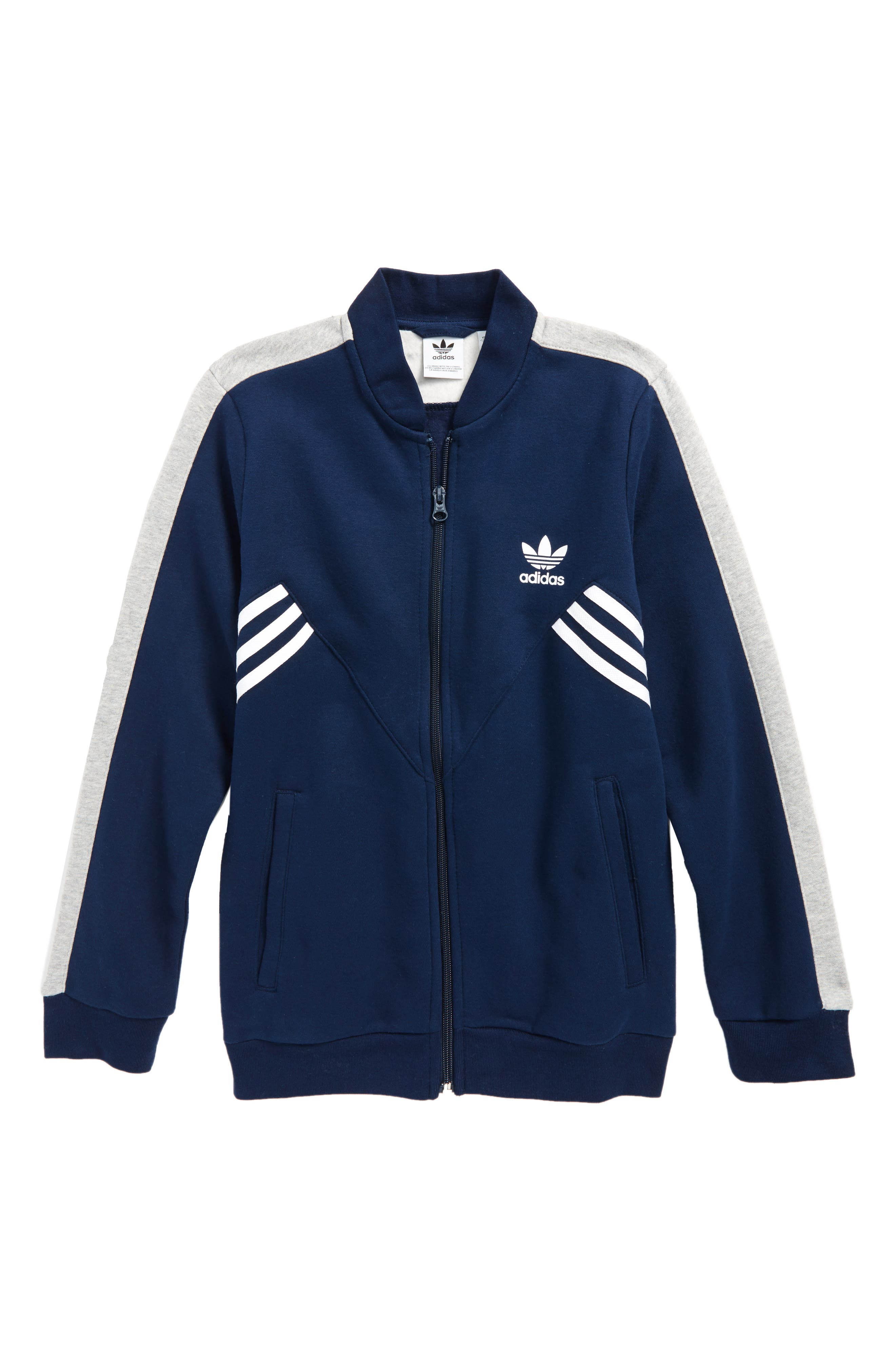 adidas SST Track Jacket,                             Main thumbnail 1, color,                             Collegiate Navy/ Medium Grey