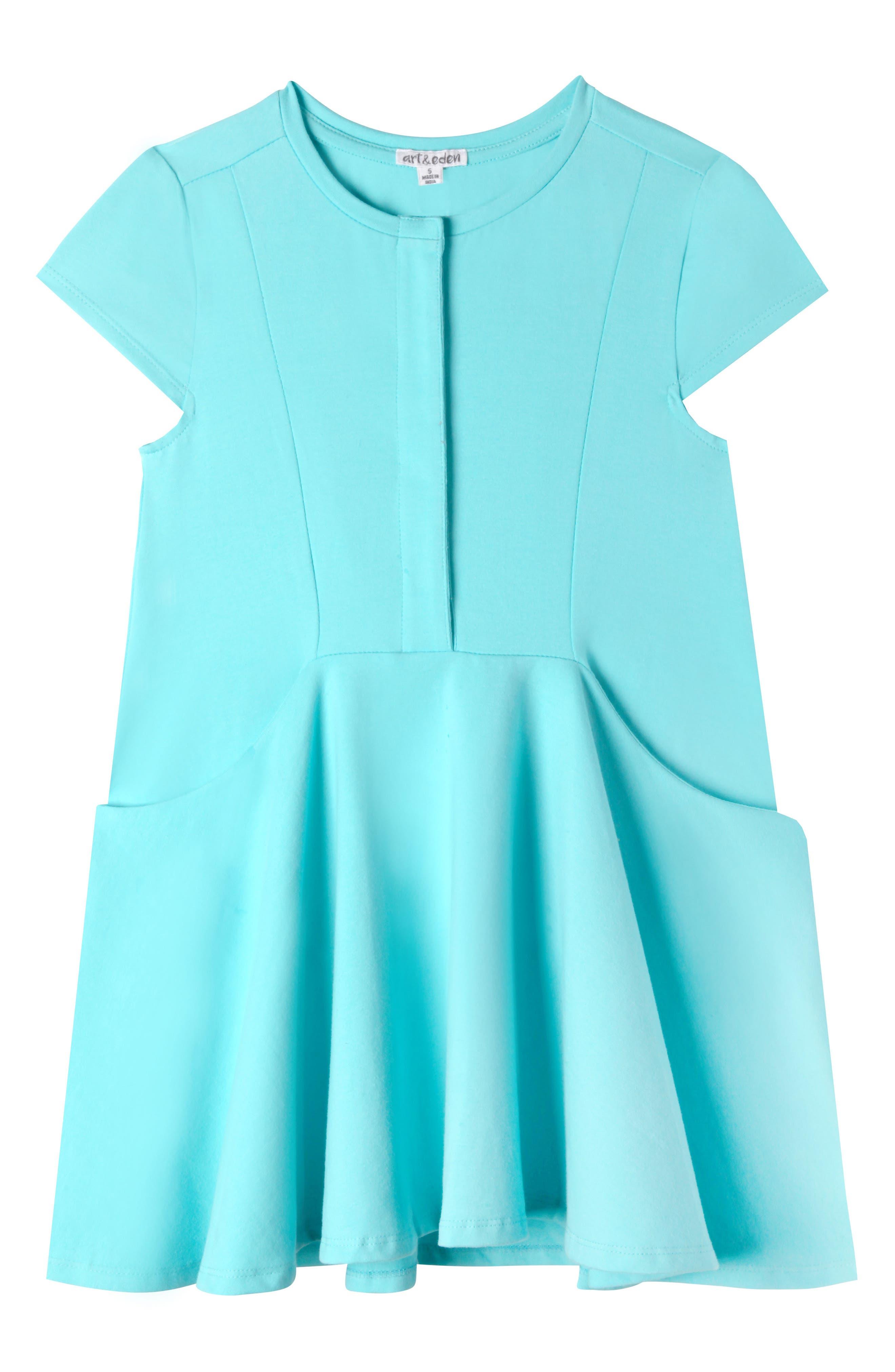 Elena Dress,                         Main,                         color, Aqua