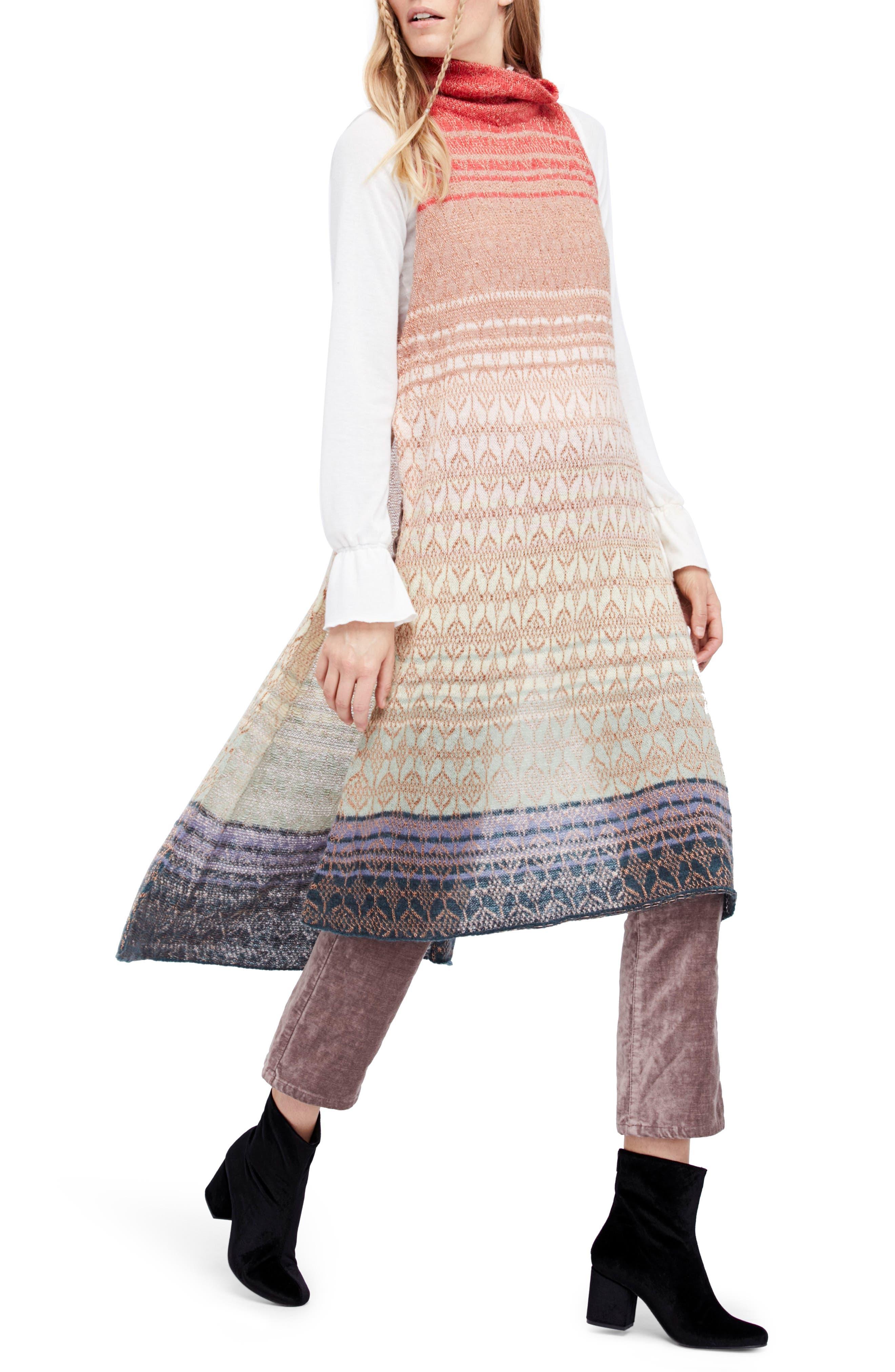 Rainbow Tunic Dress,                         Main,                         color, Multi