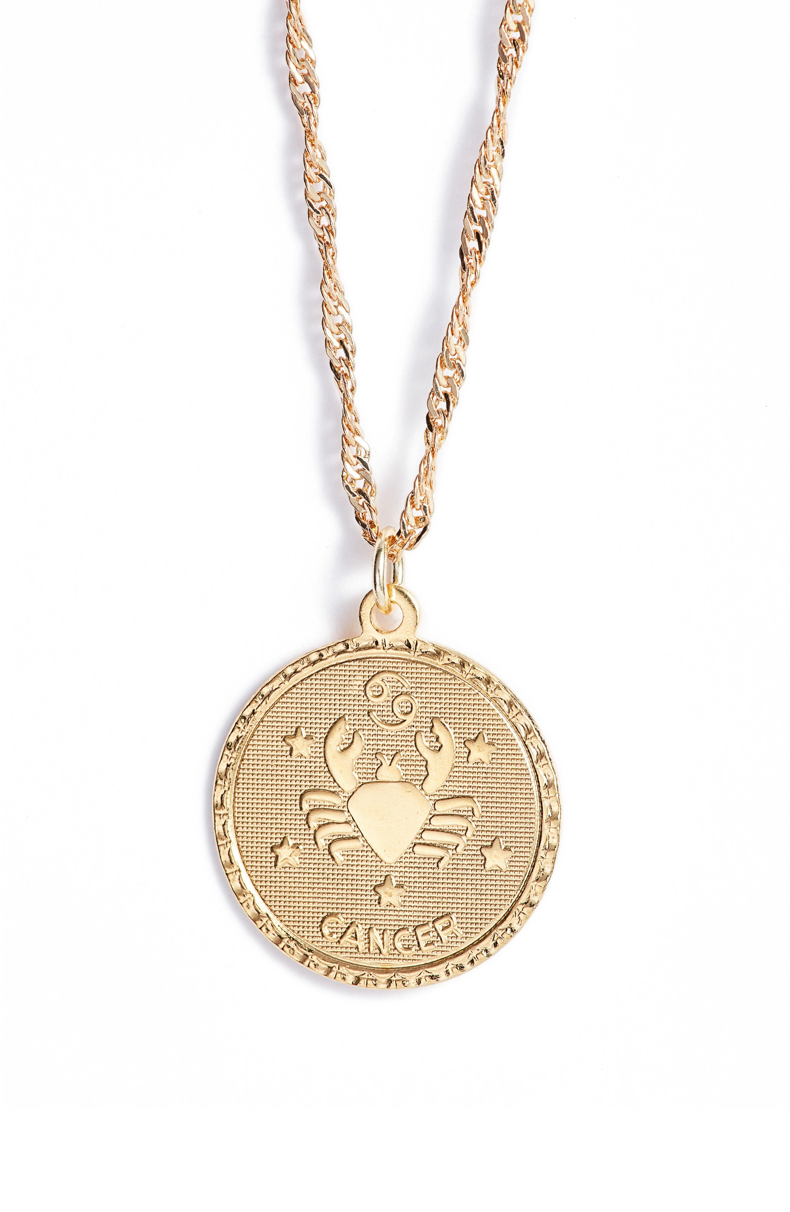 Ascending Cancer Pendant Necklace,                         Main,                         color, Yellow Gold