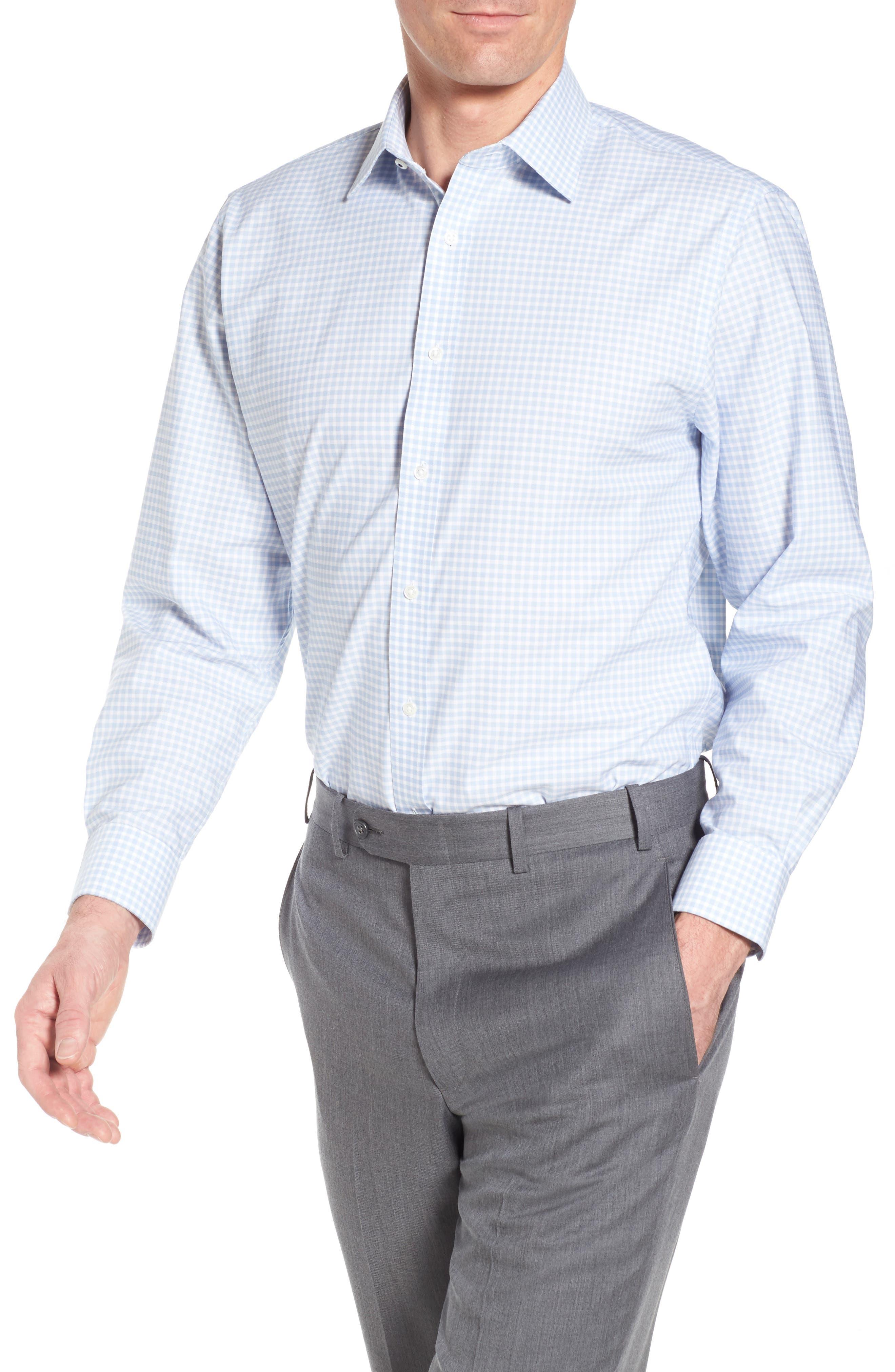 Main Image - Nordstrom Men's Shop Tech-Smart Traditional Fit Stretch Check Dress Shirt
