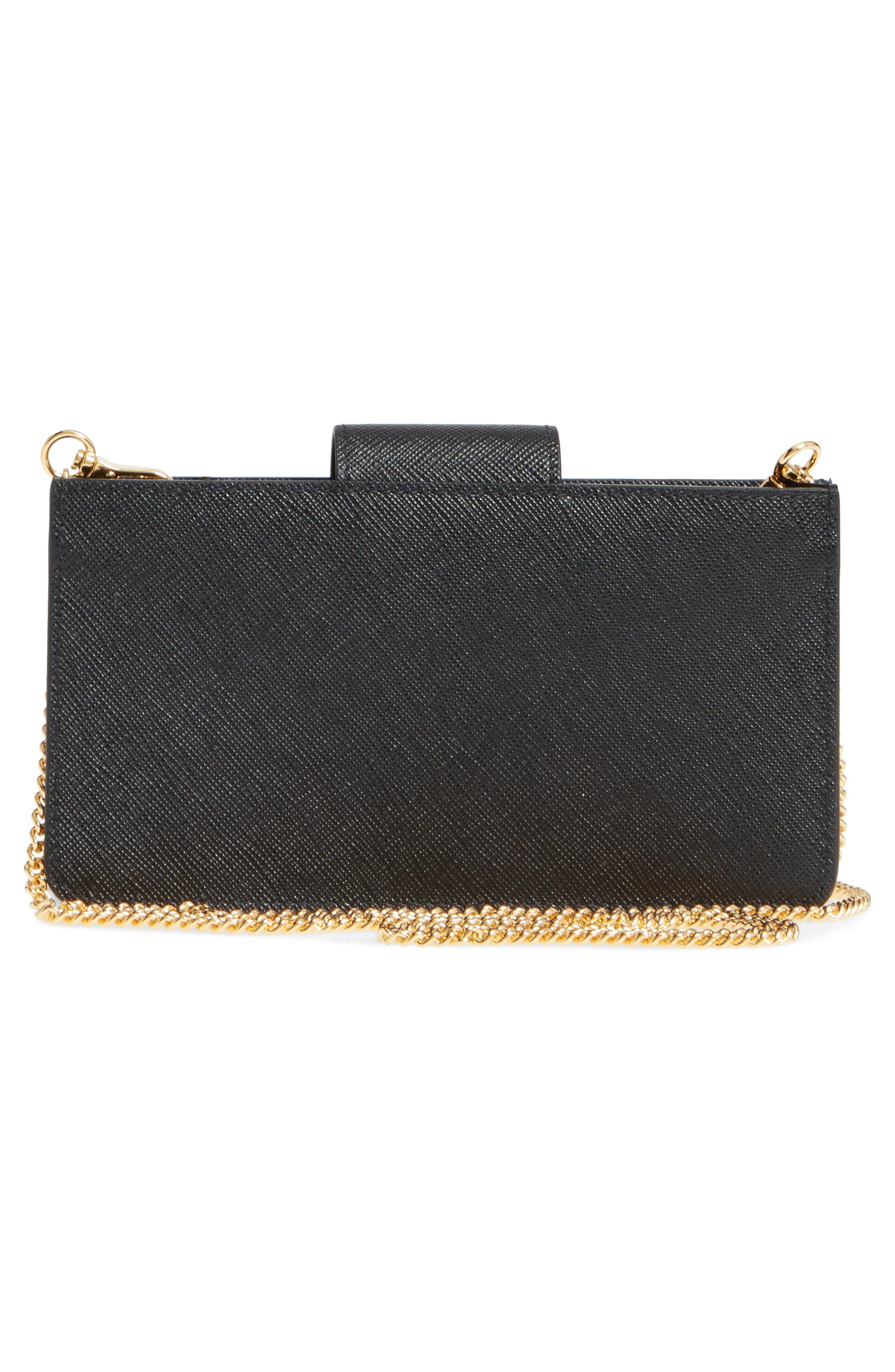 Alternate Image 4  - Prada Saffiano Leather Phone Wallet on a Chain