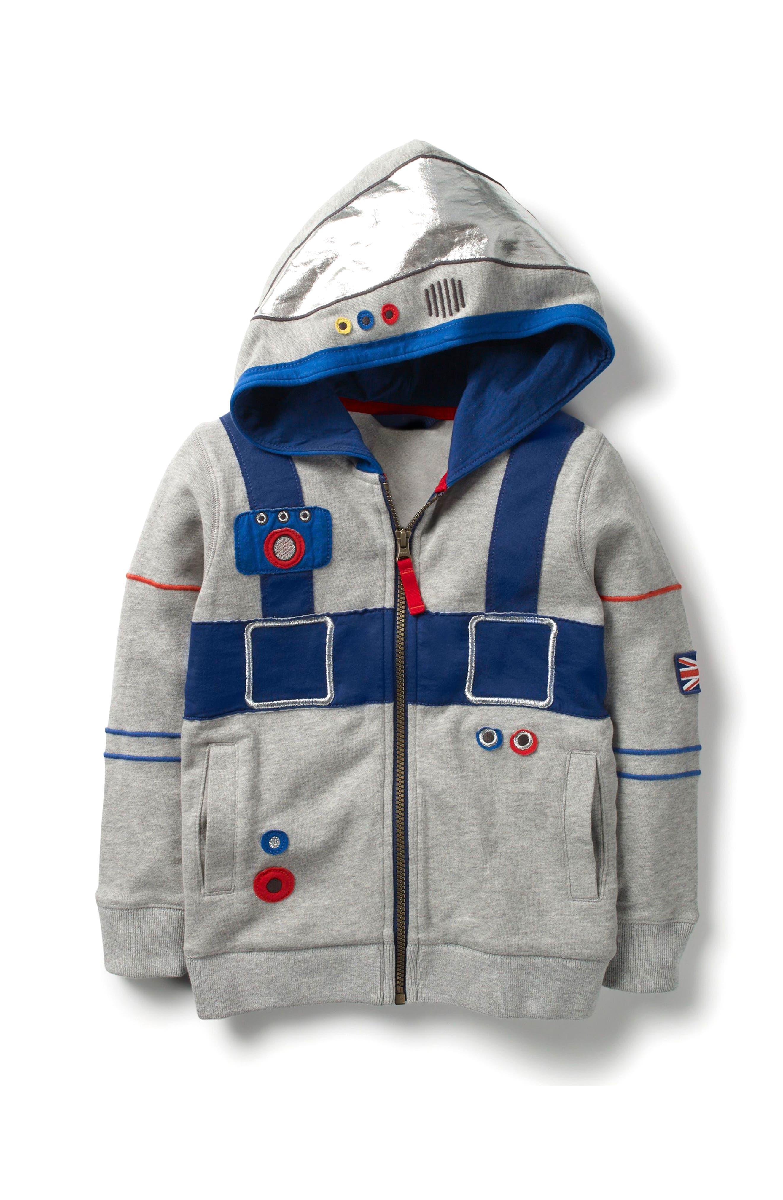 Mini Boden Astronaut Zip Hoodie (Toddler Boys, Little Boys & Big Boys)