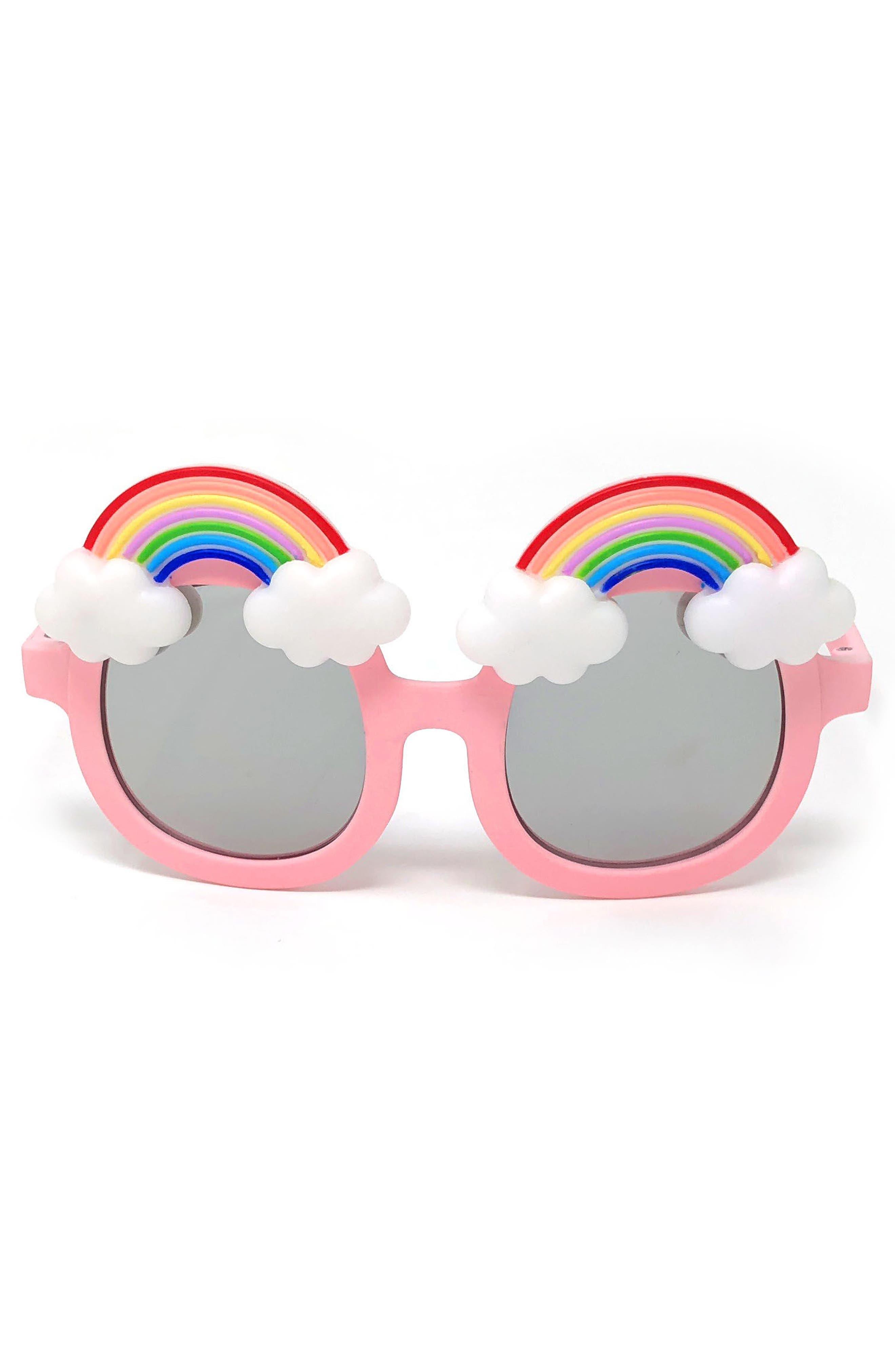 Loose Leaf Eyewear Large Round Rainbow Sunglasses (Toddler)