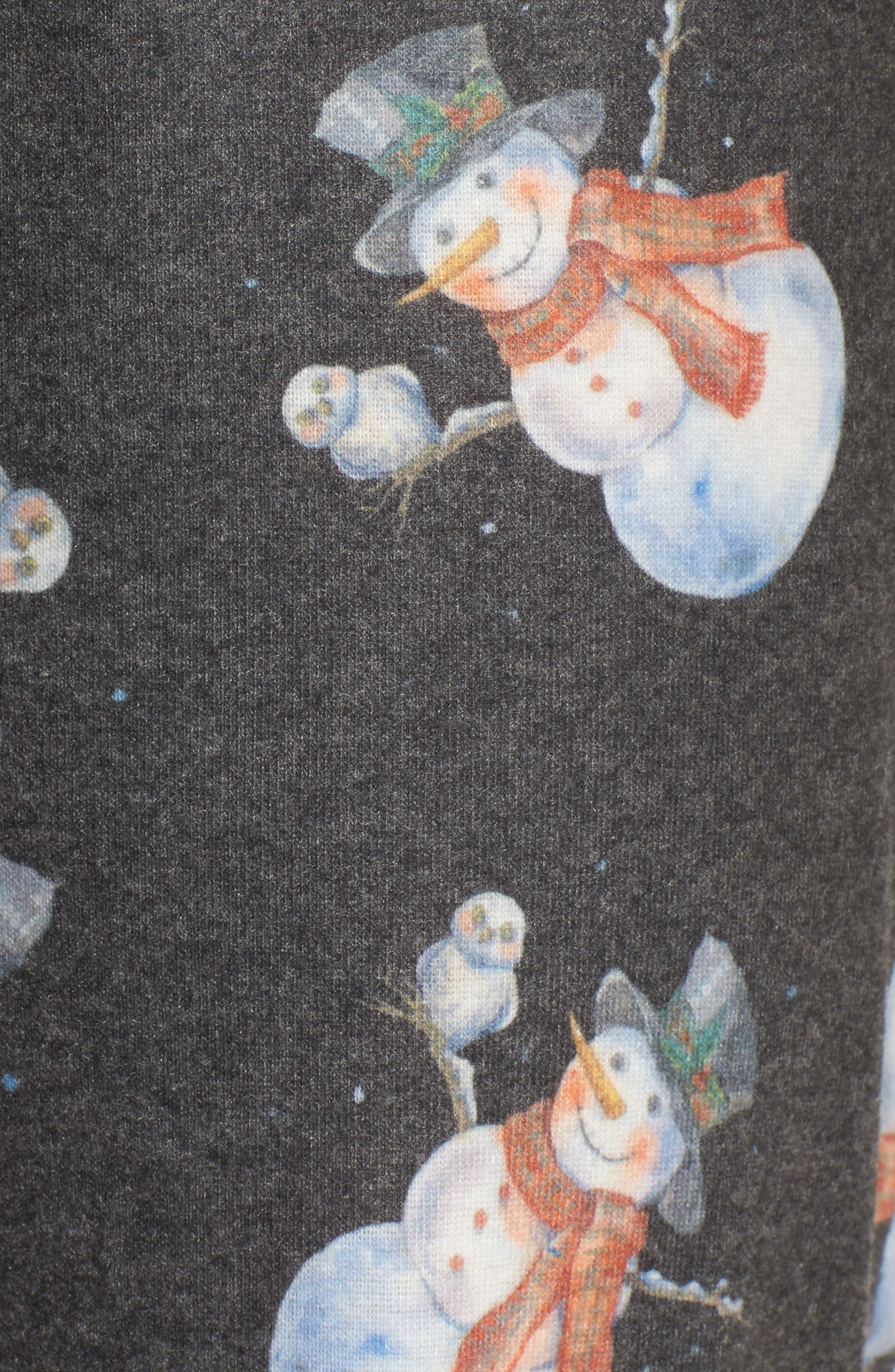 Emma Flannel Pajama Pants,                             Alternate thumbnail 6, color,                             Grey