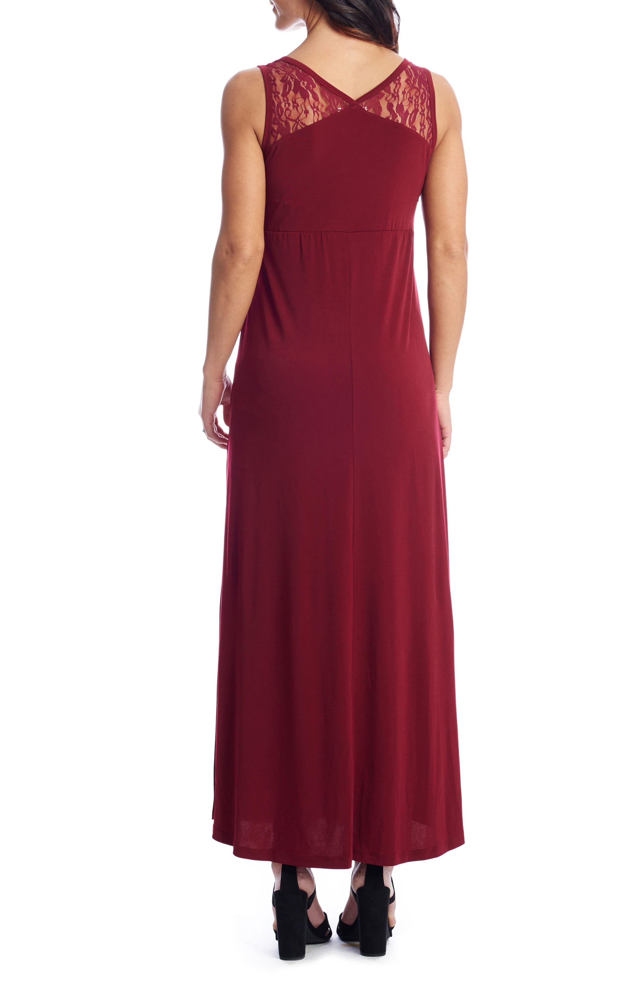 Alternate Image 2  - Everly Grey Rose Maternity/Nursing Maxi Dress
