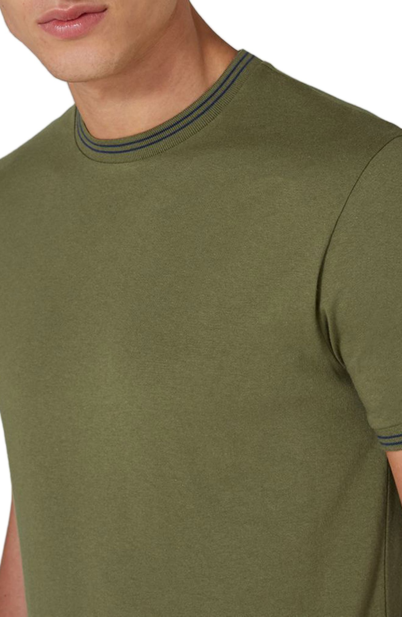 Stripe Muscle T-Shirt,                             Alternate thumbnail 3, color,                             Olive