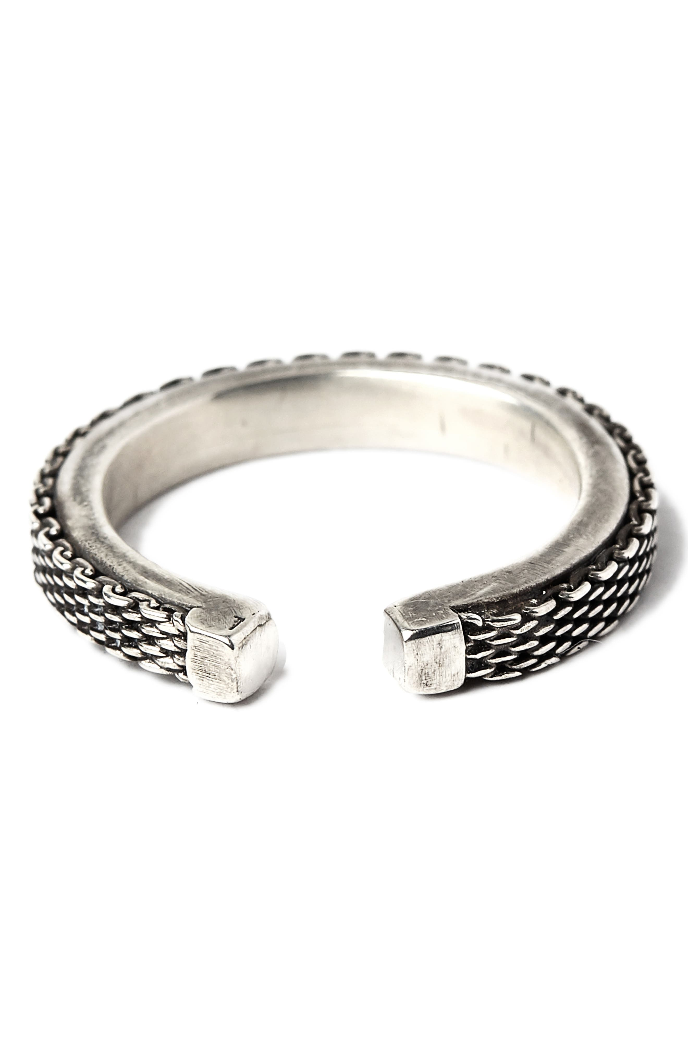 Adjustable Micro Mesh Ring,                         Main,                         color, Silver