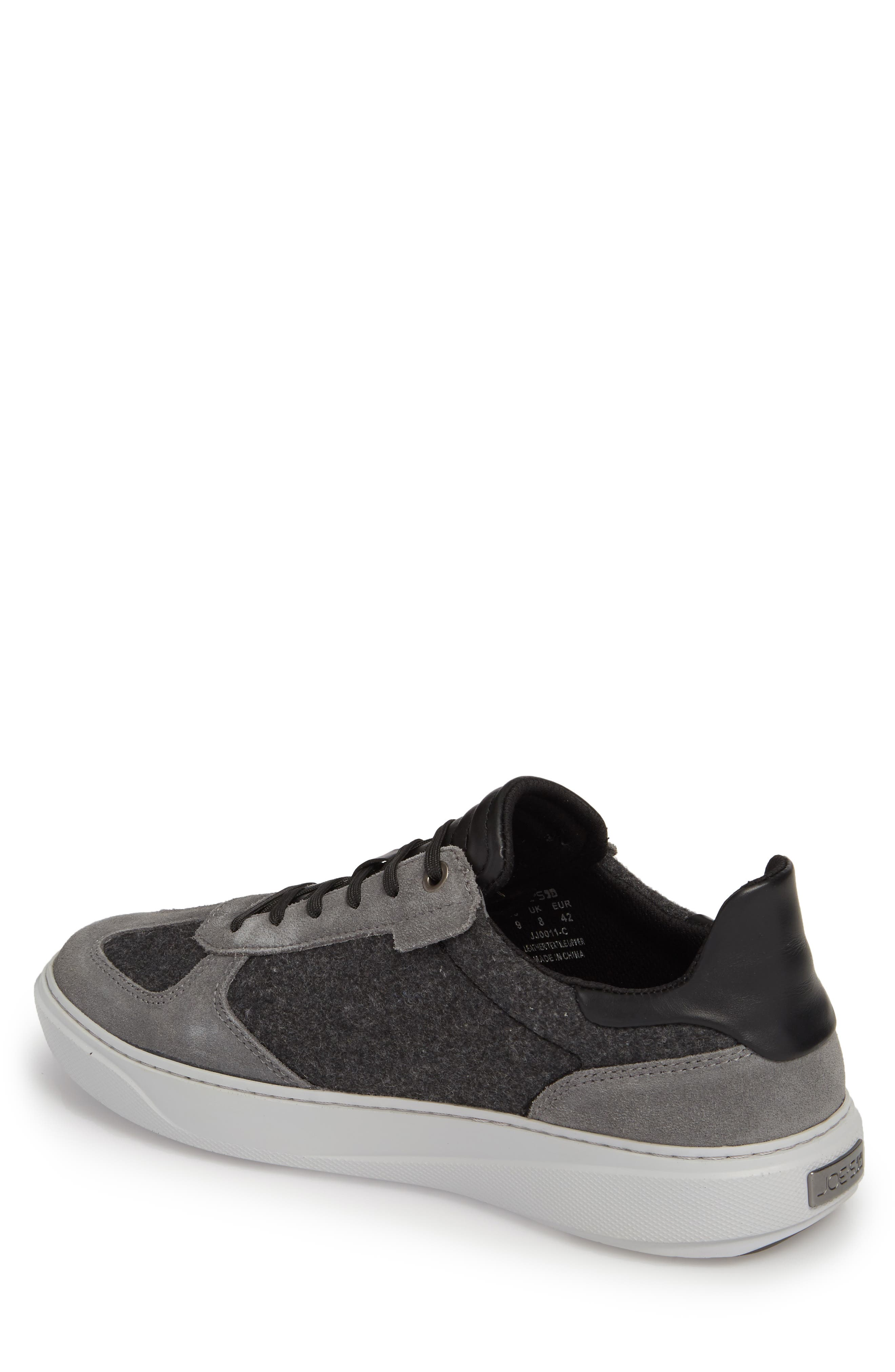 Mo Joe Sneaker,                             Alternate thumbnail 2, color,                             Charcoal Wool/ Suede