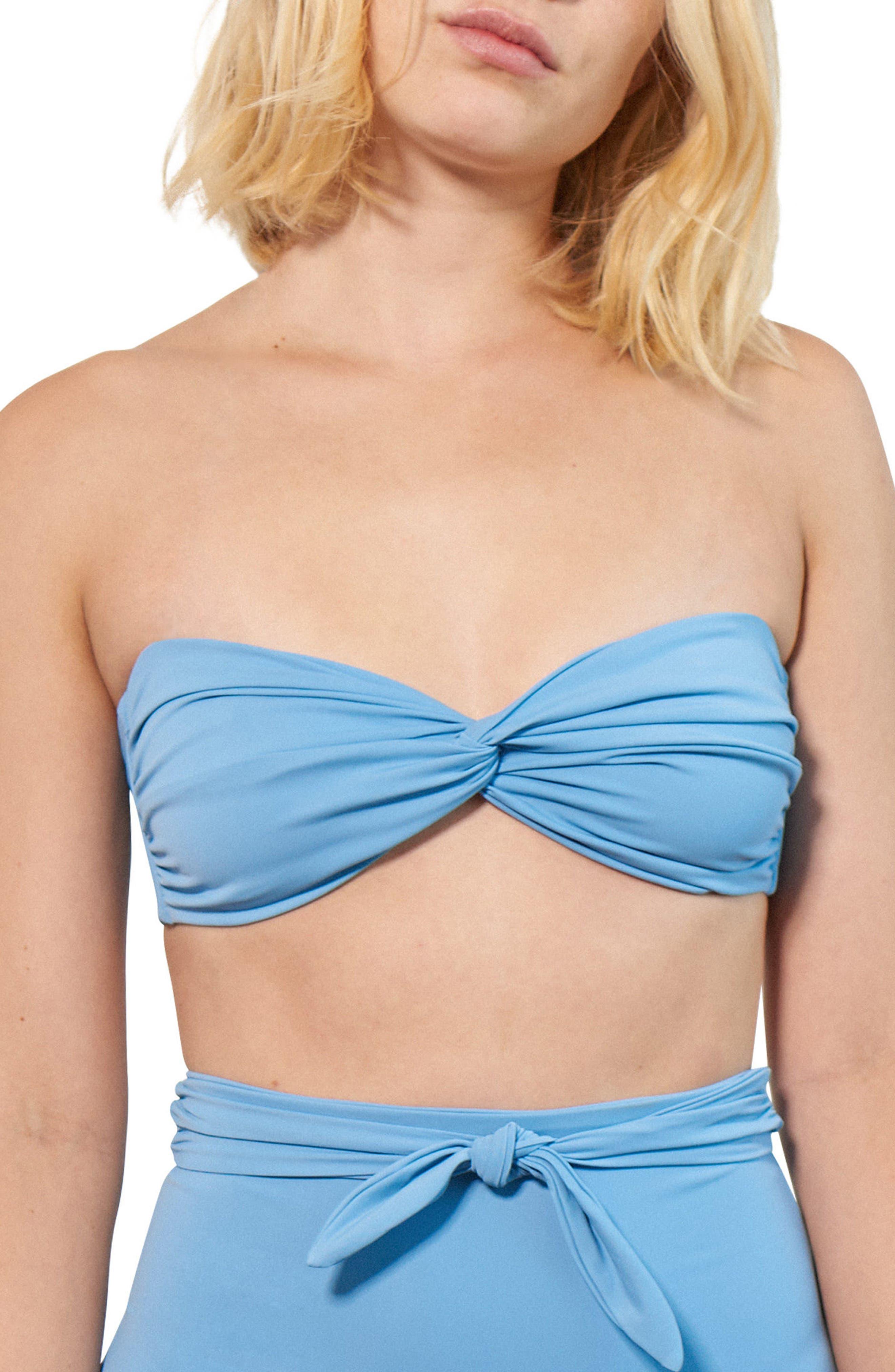 Chey Twist Bikini Top,                         Main,                         color, Vento