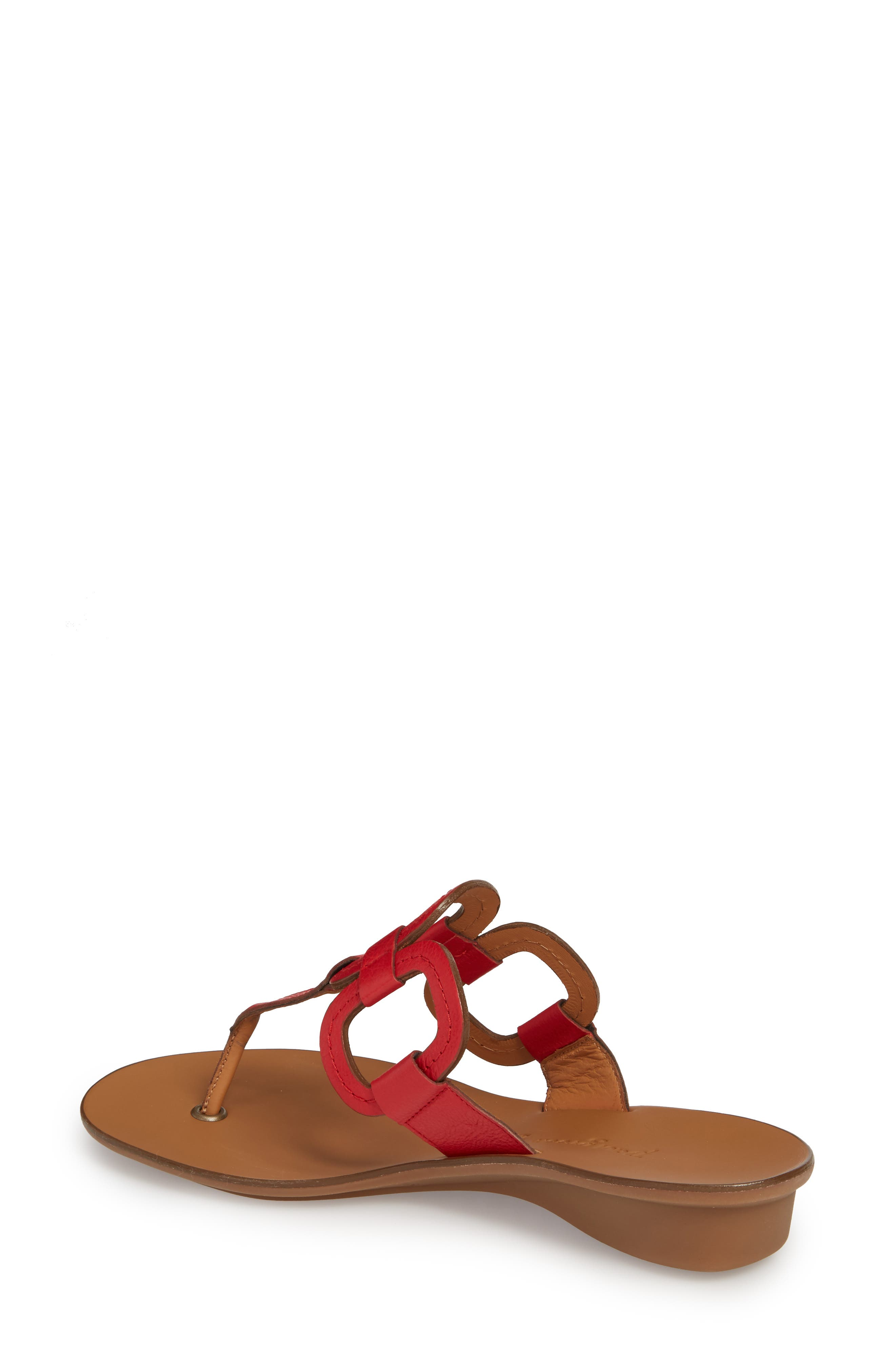 Lanai Flip-Flop,                             Alternate thumbnail 2, color,                             Red Leather
