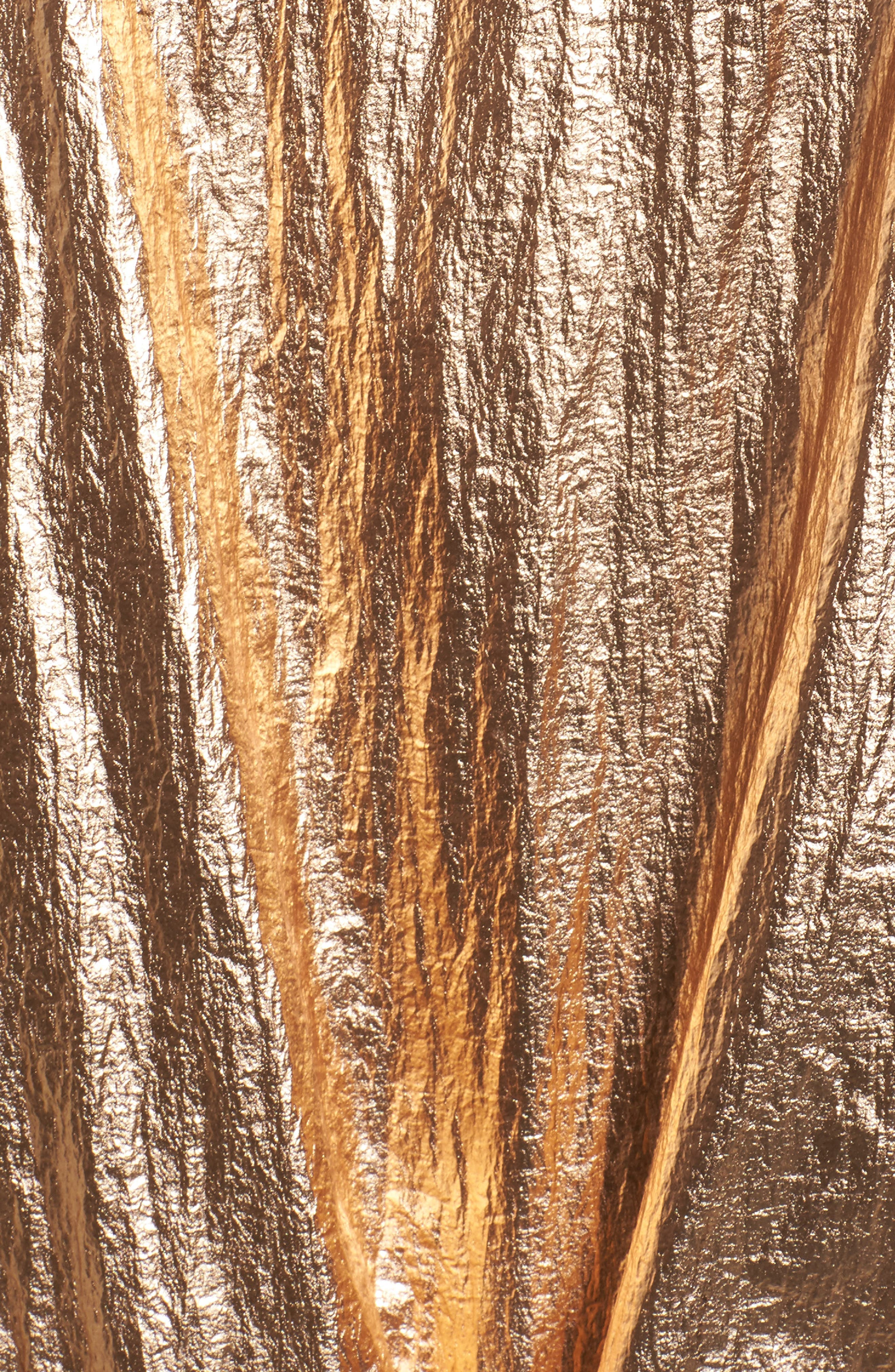 Reversible Metallic Long Jacket,                             Alternate thumbnail 6, color,                             Shine On Rose Gold
