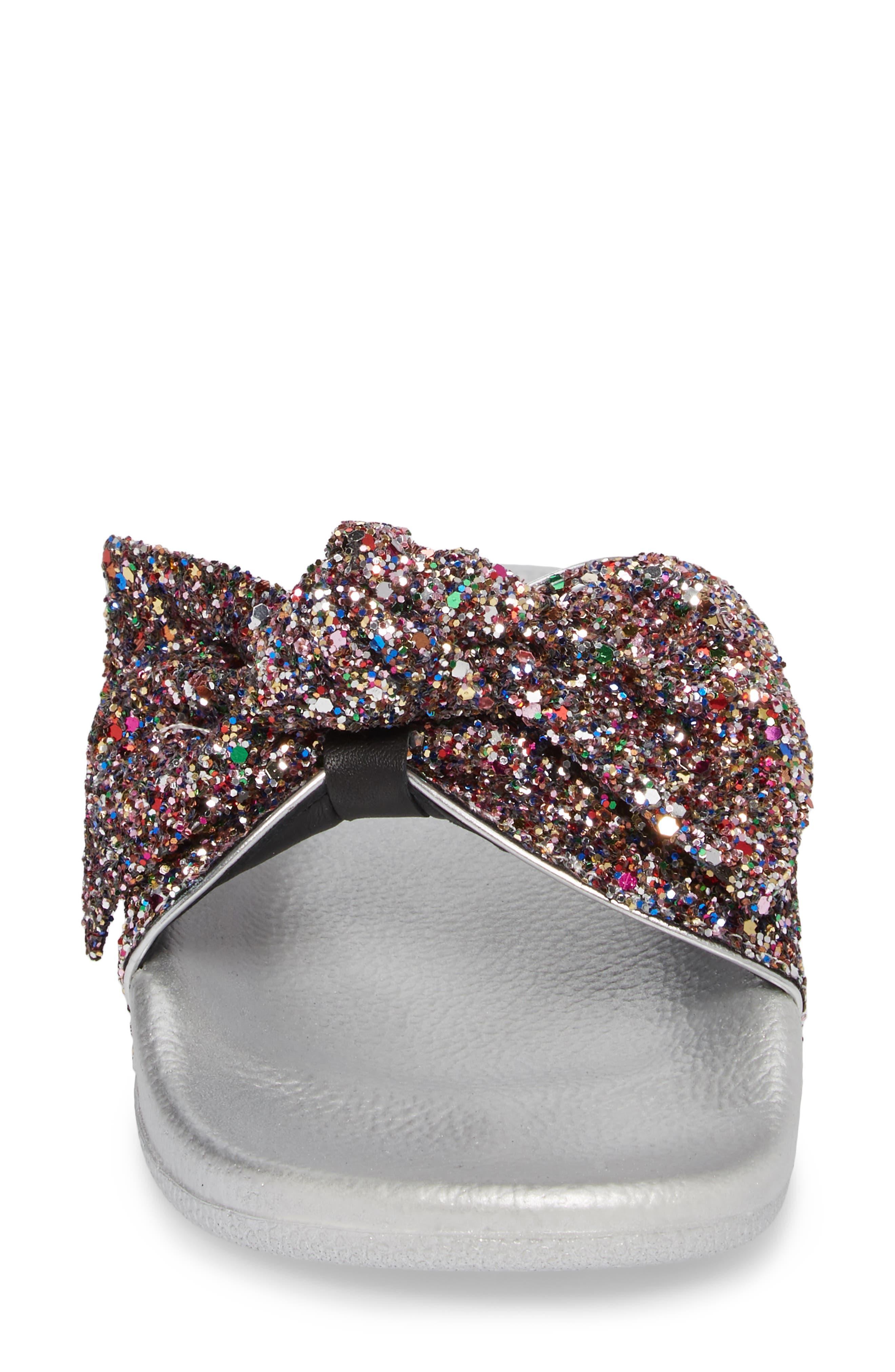 shellie slide sandal,                             Alternate thumbnail 4, color,                             Multi Glitter