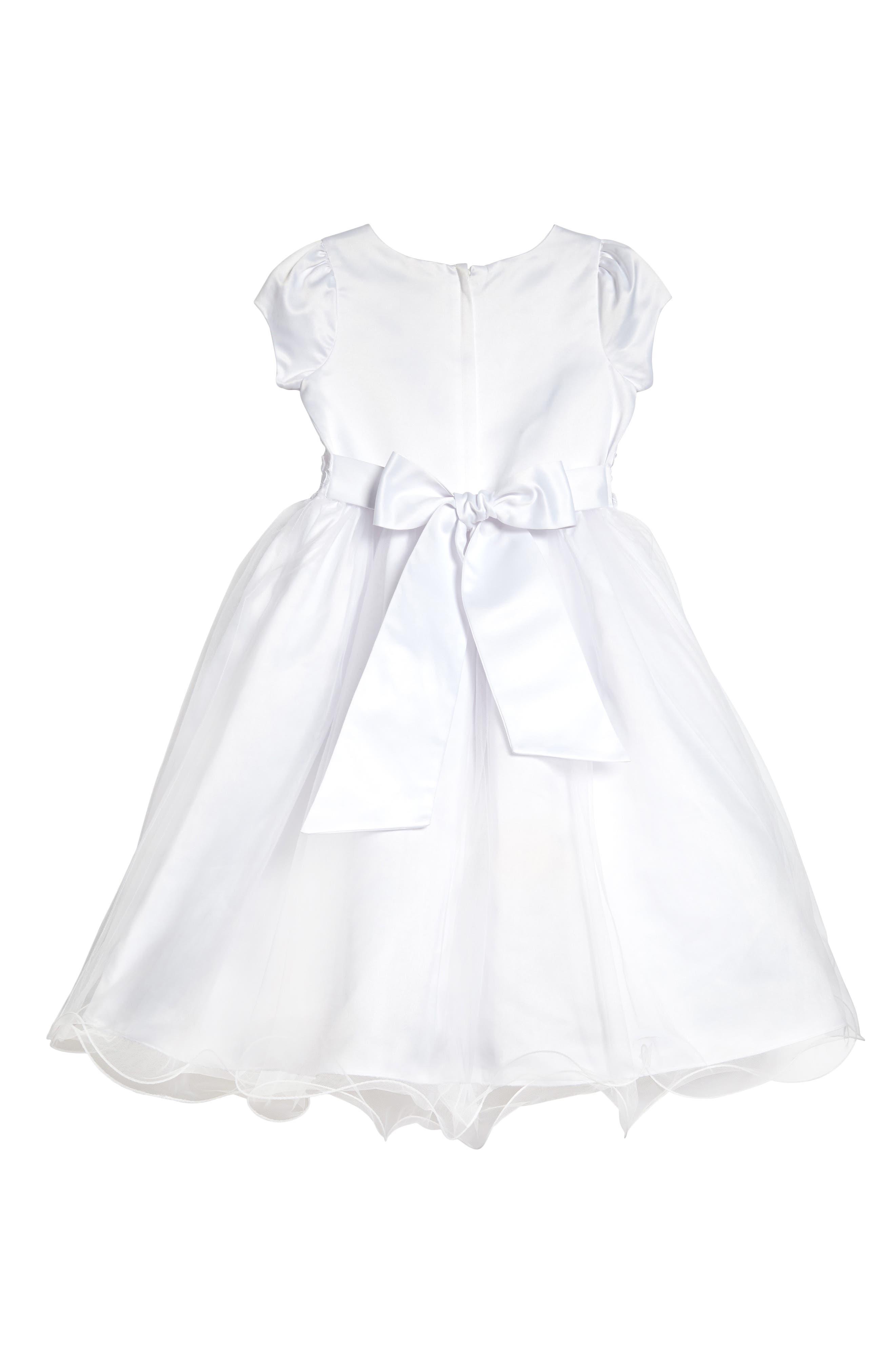 Alternate Image 2  - Us Angels Embellished Satin & Organza Dress (Little Girls & Big Girls)