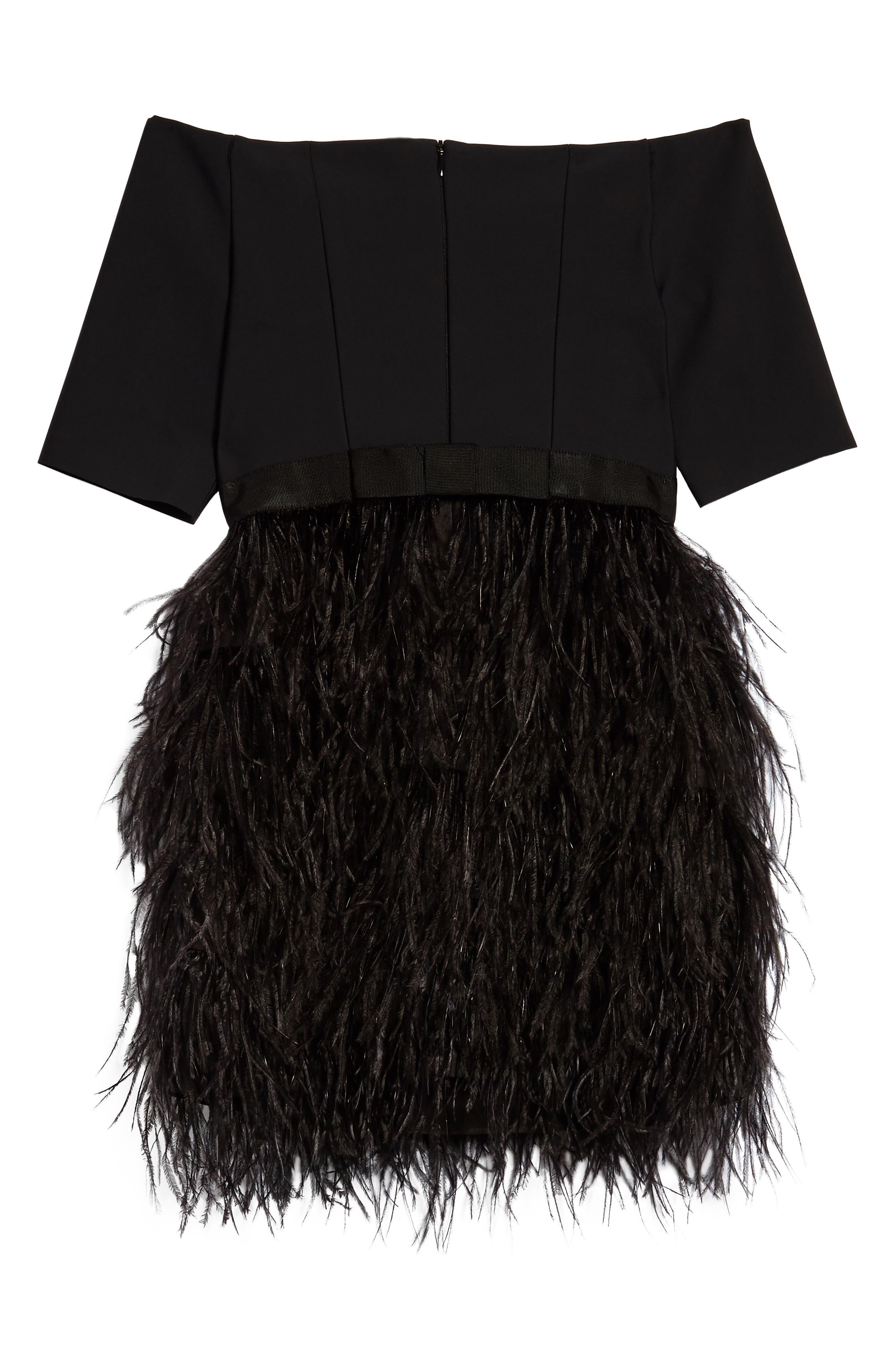 Megan Off the Shoulder Dress,                             Alternate thumbnail 2, color,                             Black