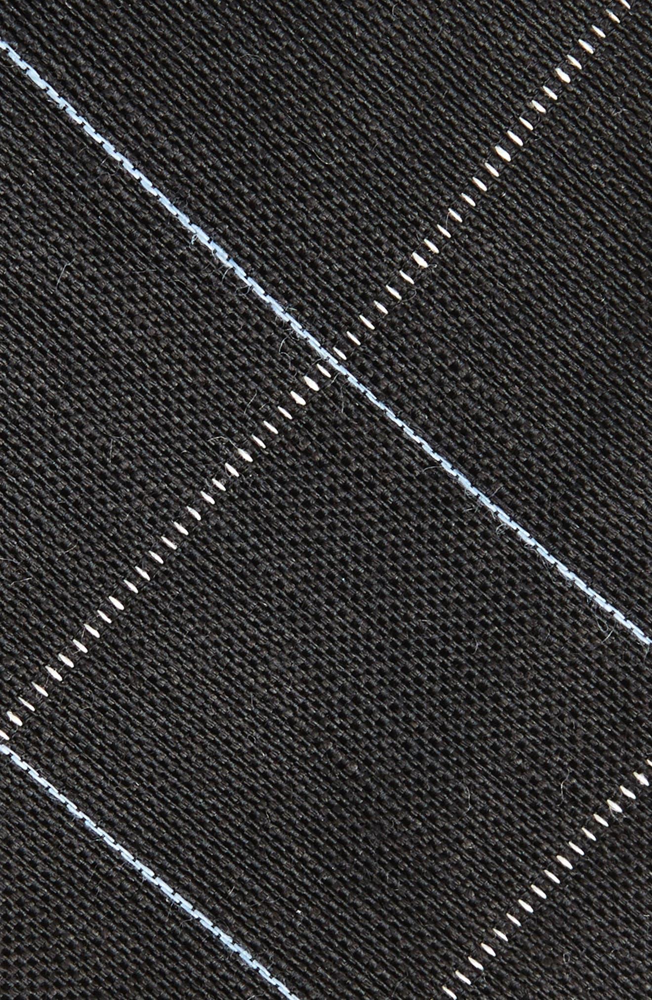 Candler Grid Linen & Silk Tie,                             Alternate thumbnail 2, color,                             Black