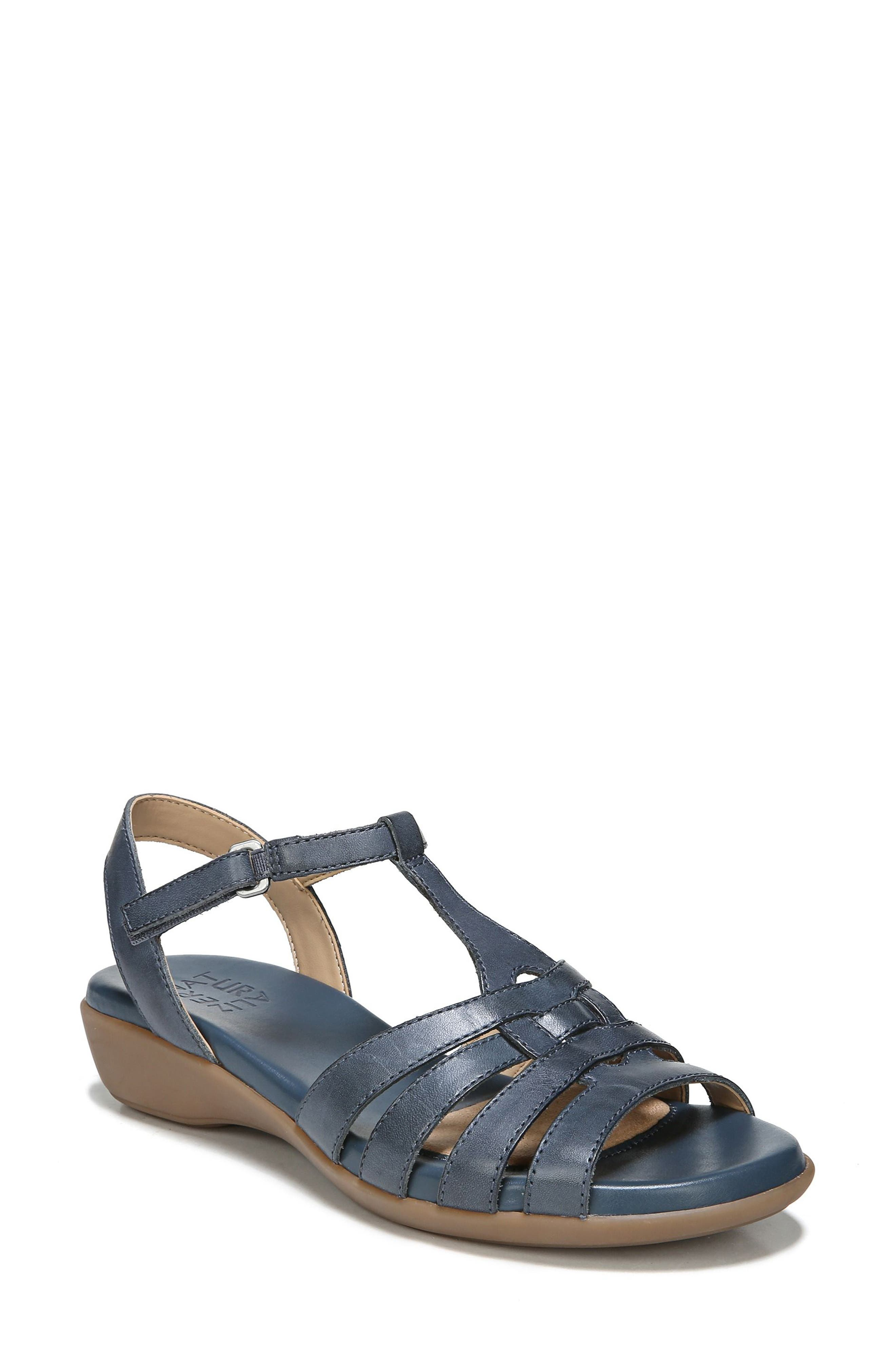 Nanci Sandal,                         Main,                         color, Denim Leather
