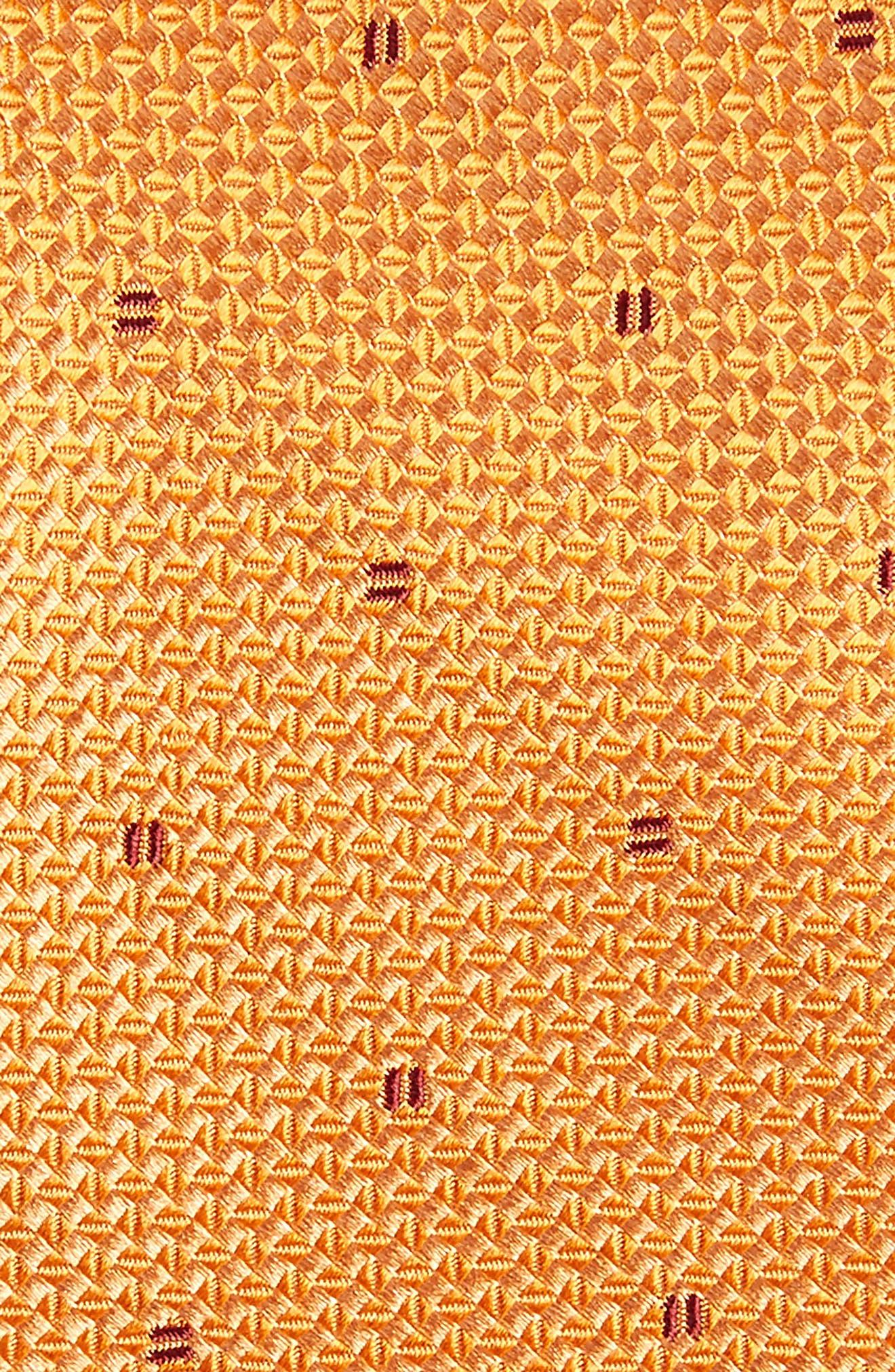Mulroy Neat Silk Tie,                             Alternate thumbnail 2, color,                             Orange