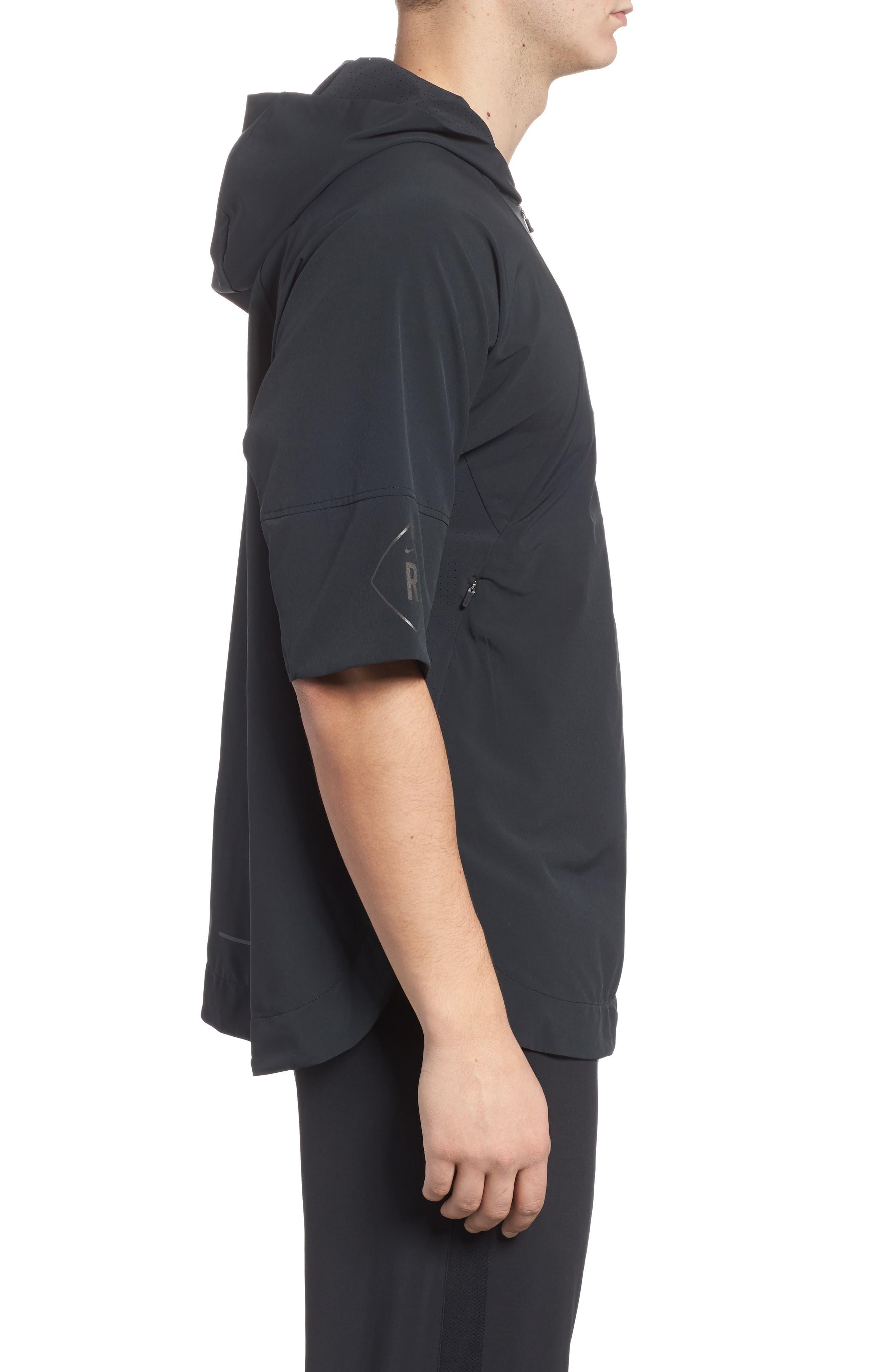 Alternate Image 3  - Nike Running Division Short Sleeve DWR Running Hoodie