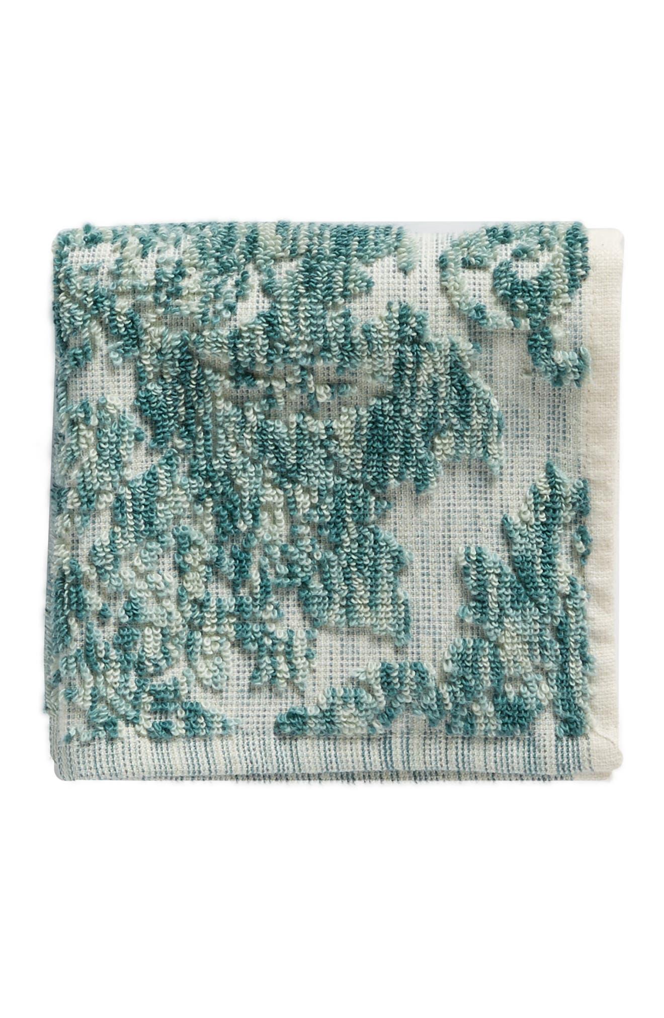 Easton Washcloth,                             Main thumbnail 1, color,                             Teal Mist Multi