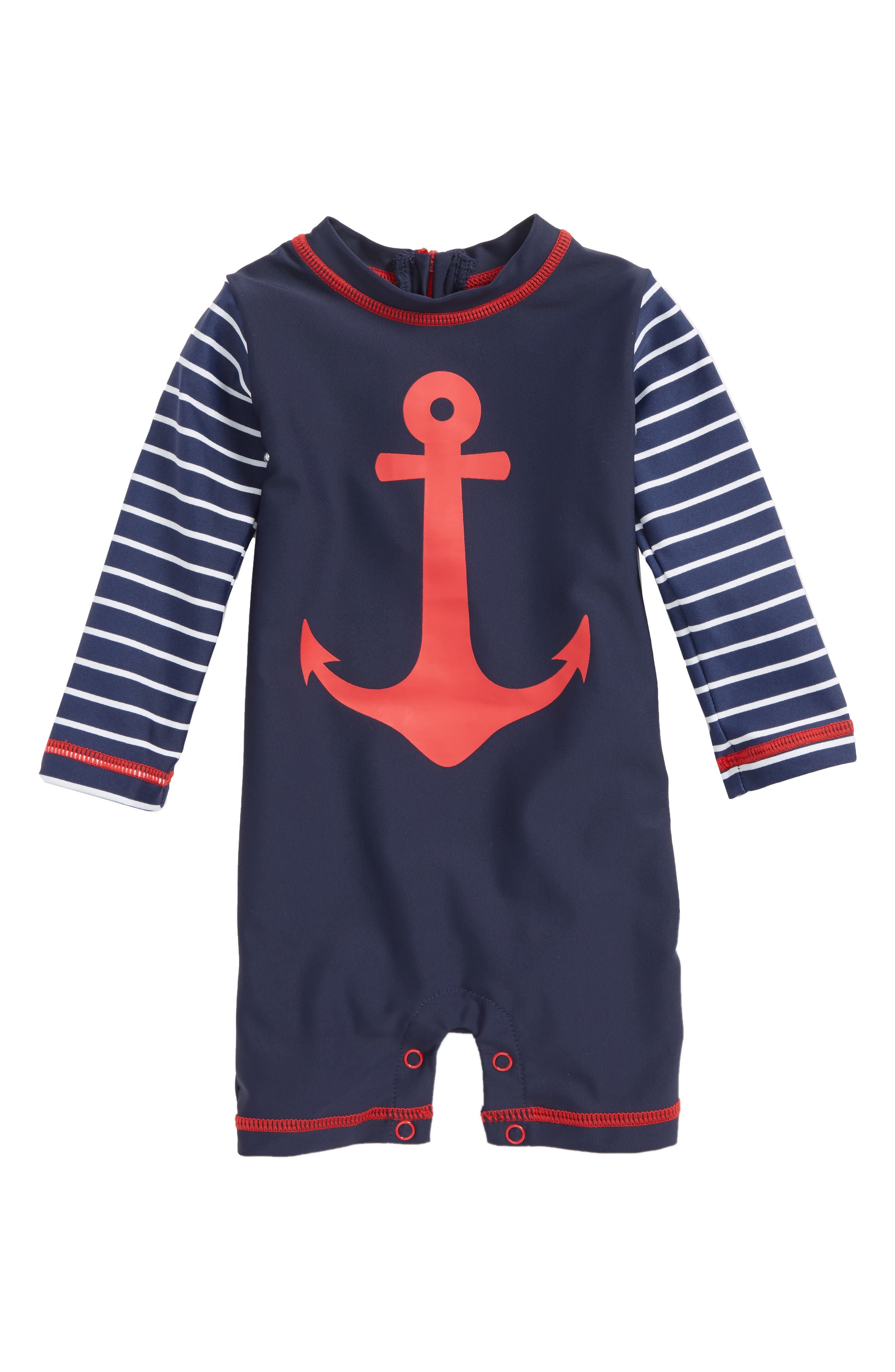 Hatley One-Piece Rashguard Swimsuit (Baby Boys)