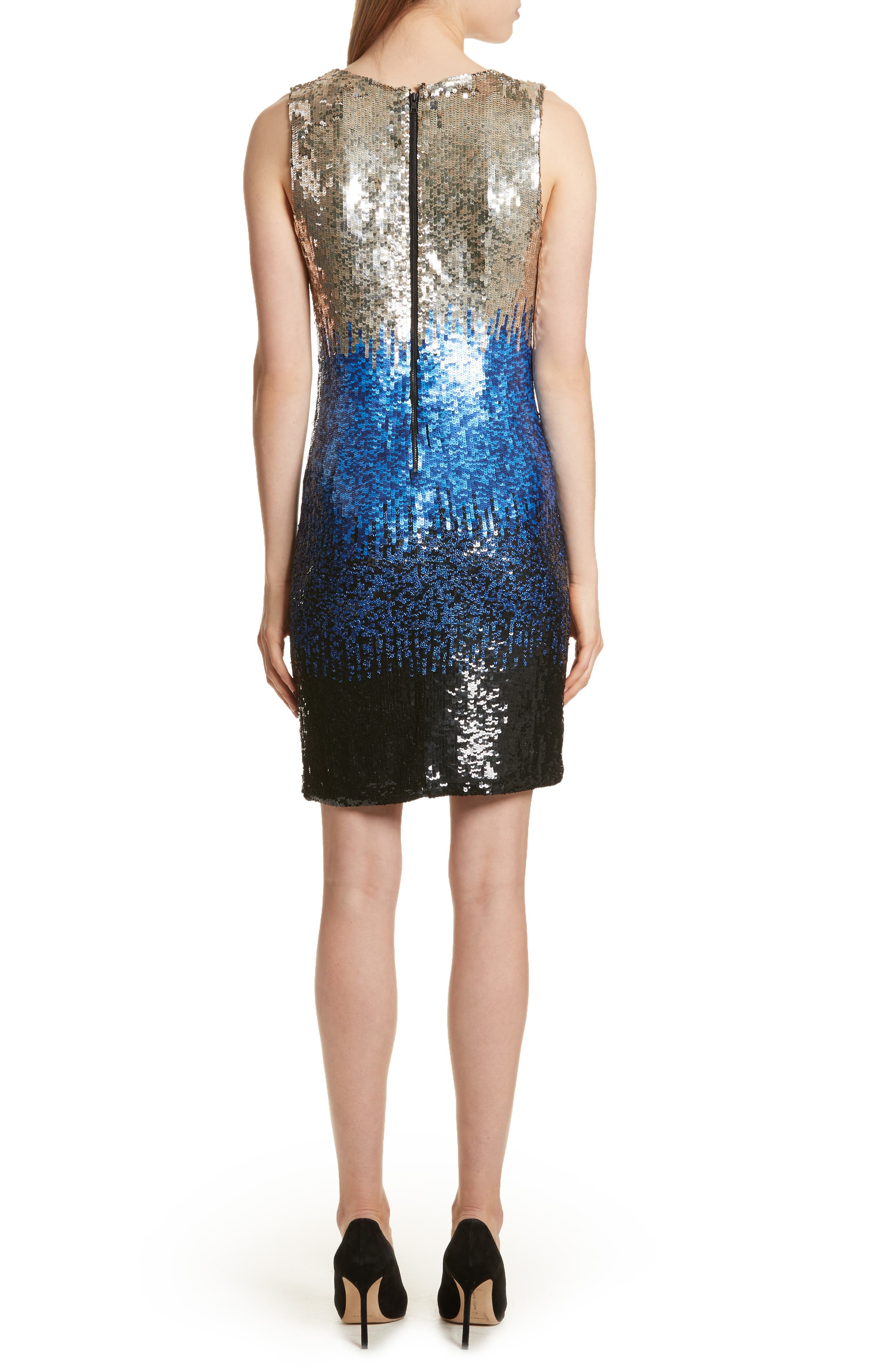 Nat Sequin Minidress,                             Alternate thumbnail 2, color,                             Black/ Multi