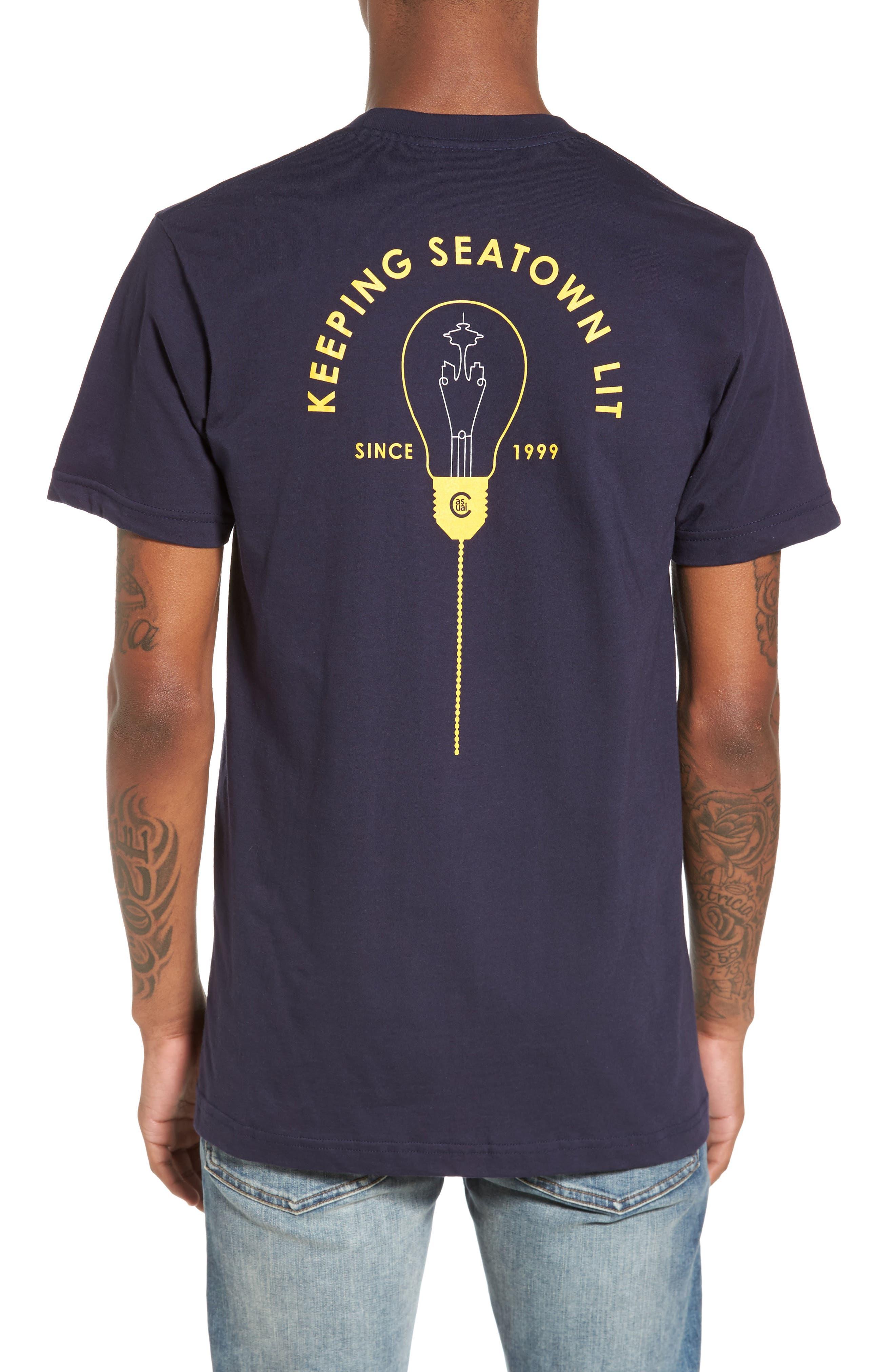 Keeping Seatown Lit T-Shirt,                             Alternate thumbnail 2, color,                             Navy